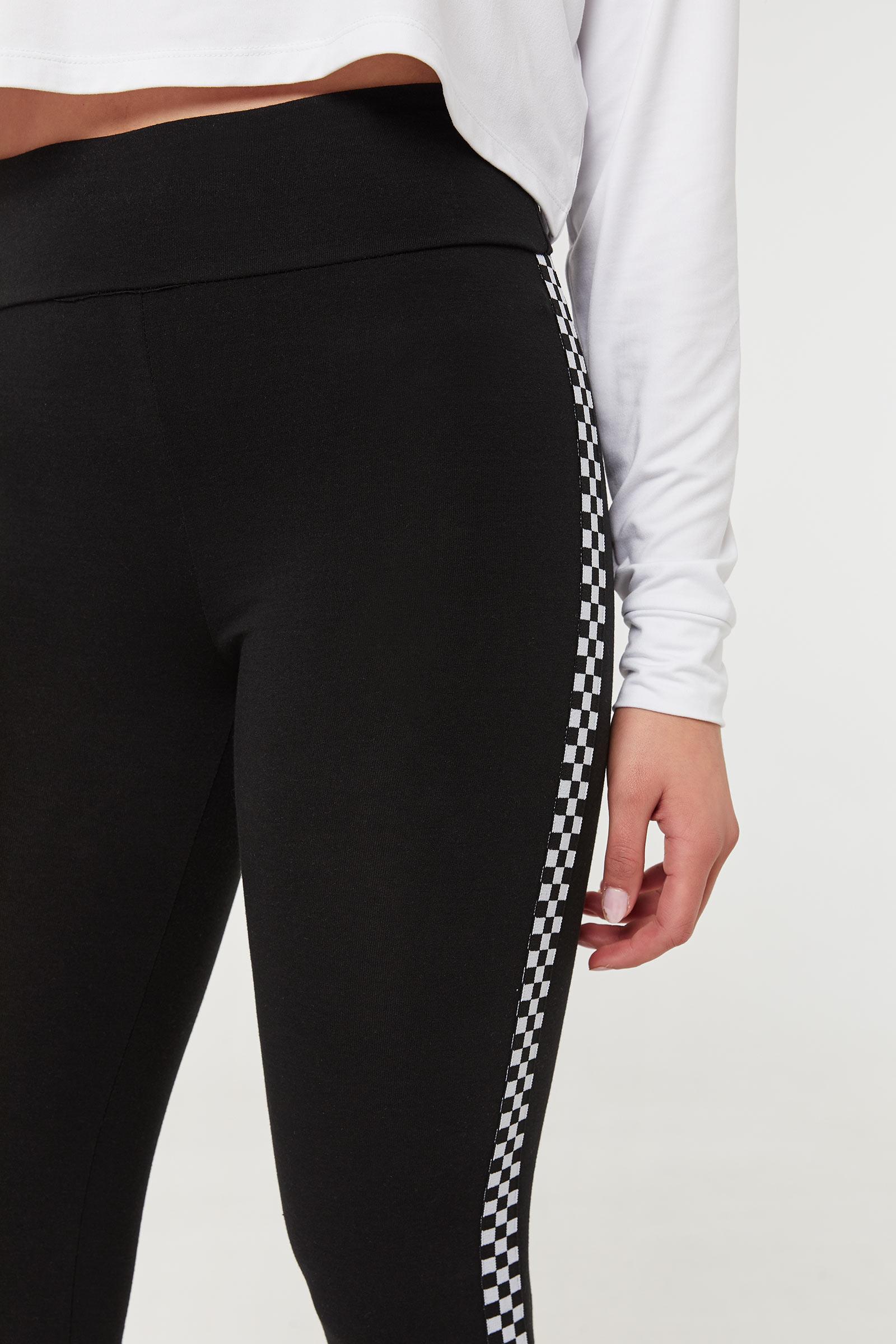 Checkerboard Print Leggings
