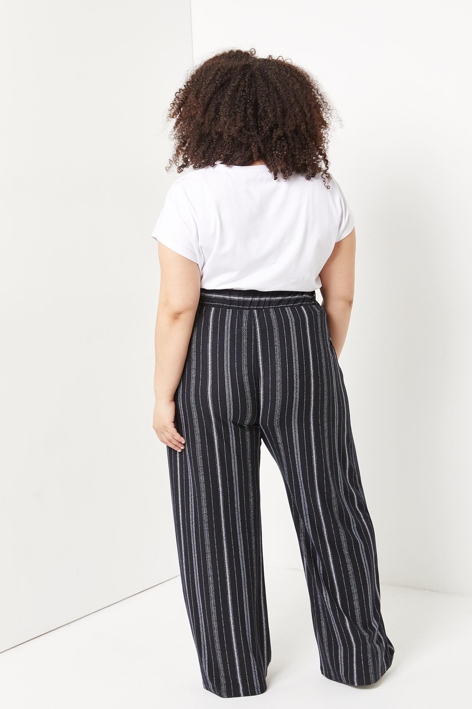 Plus Size Wide Leg Pants with Belt