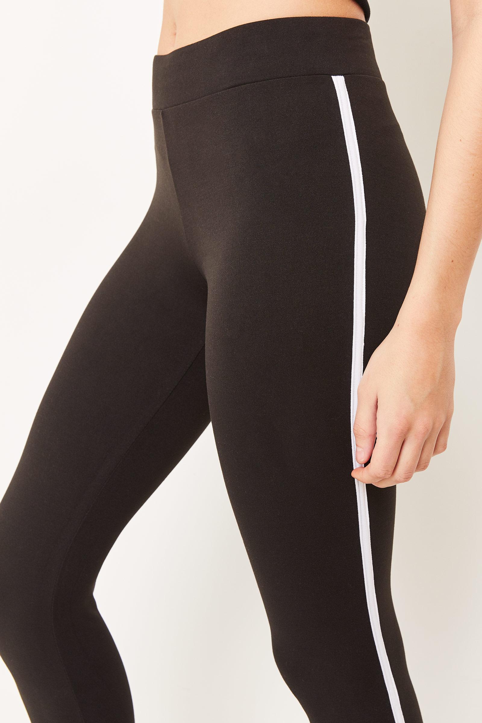 Contrast Side Stripe Leggings