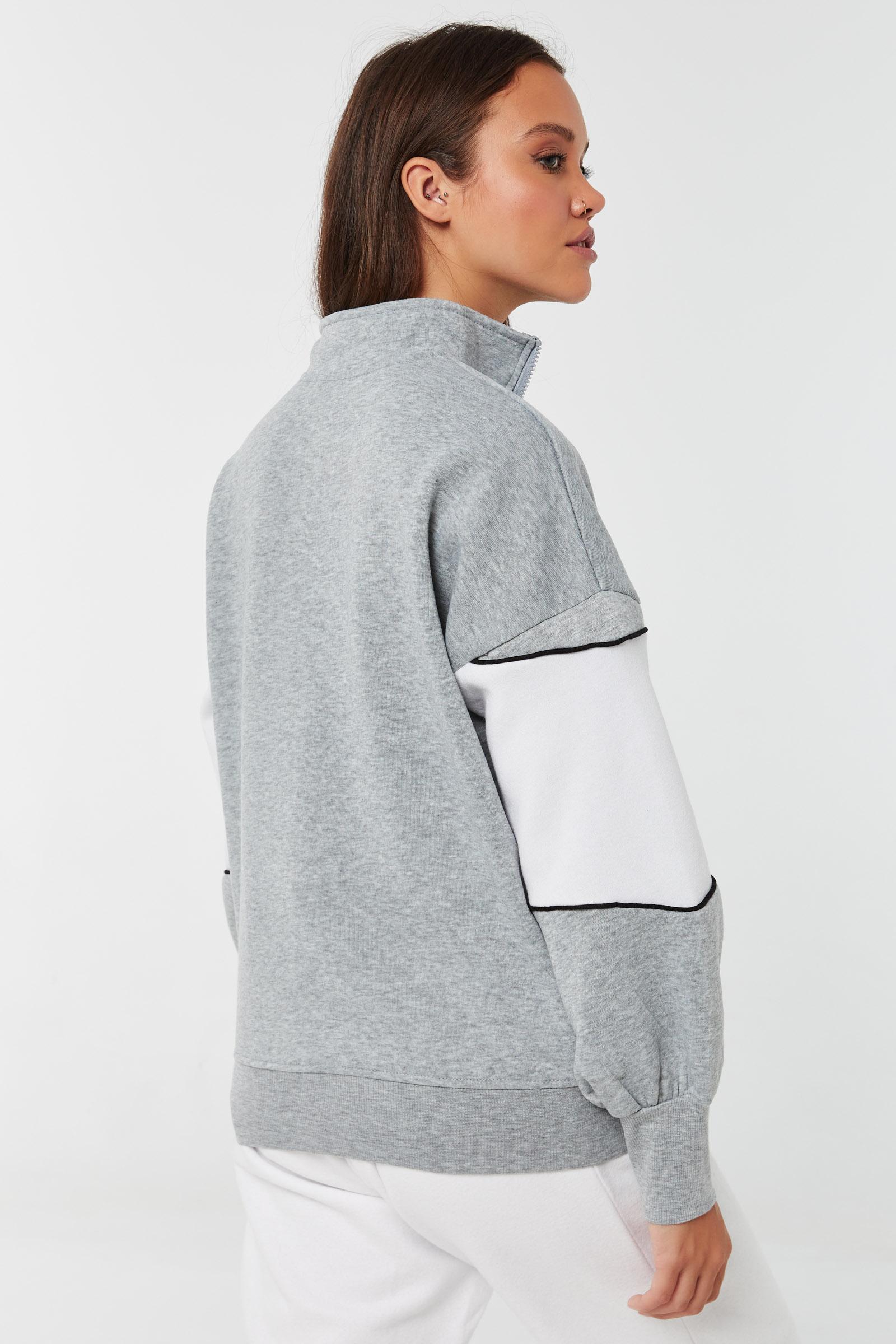 Colorblock Zip Sweatshirt