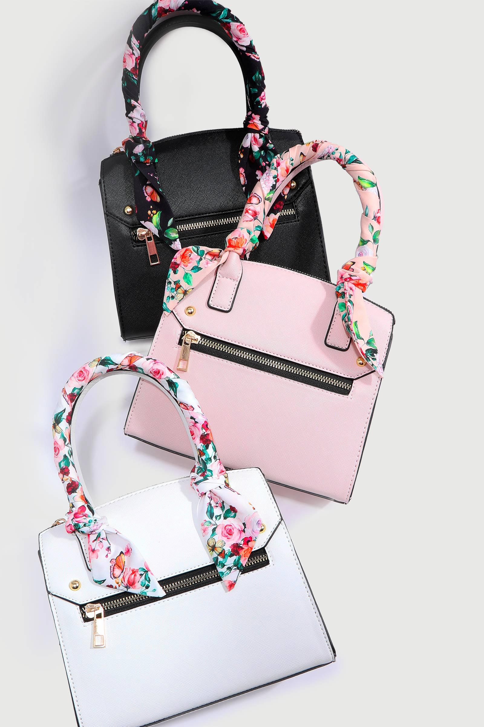 Tote Bag with Floral Handles