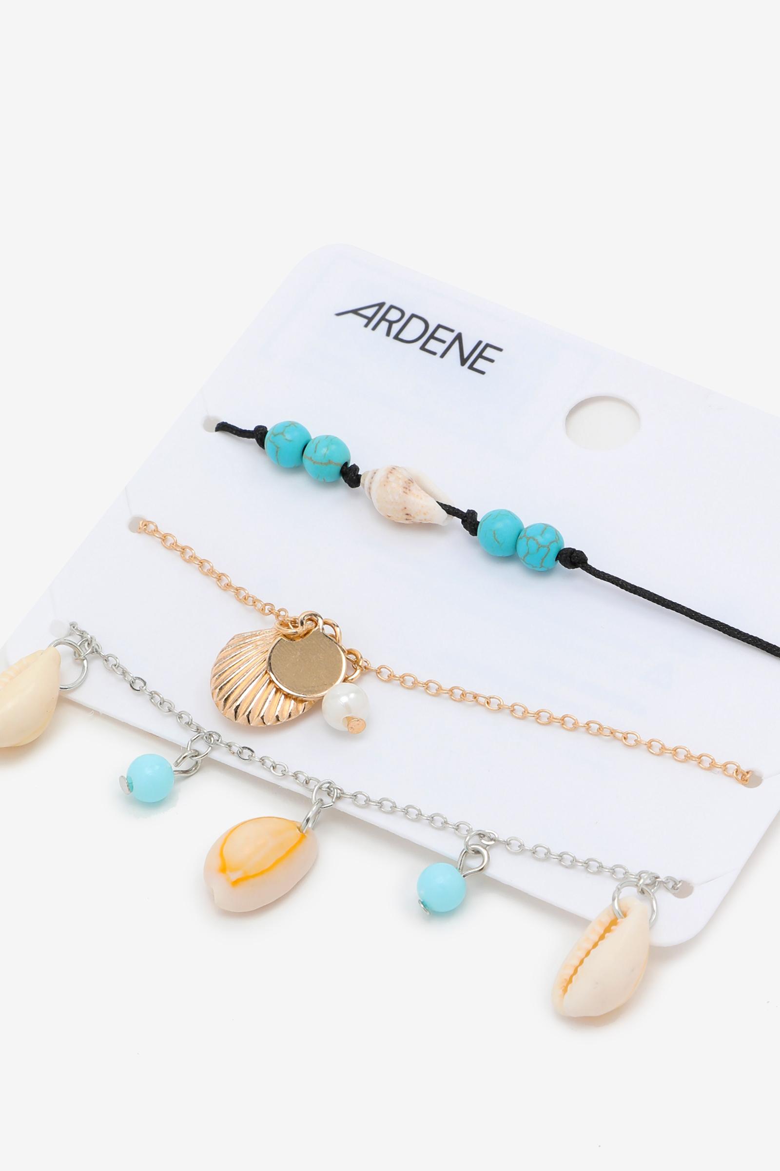 4-Pack Seashell Bracelets