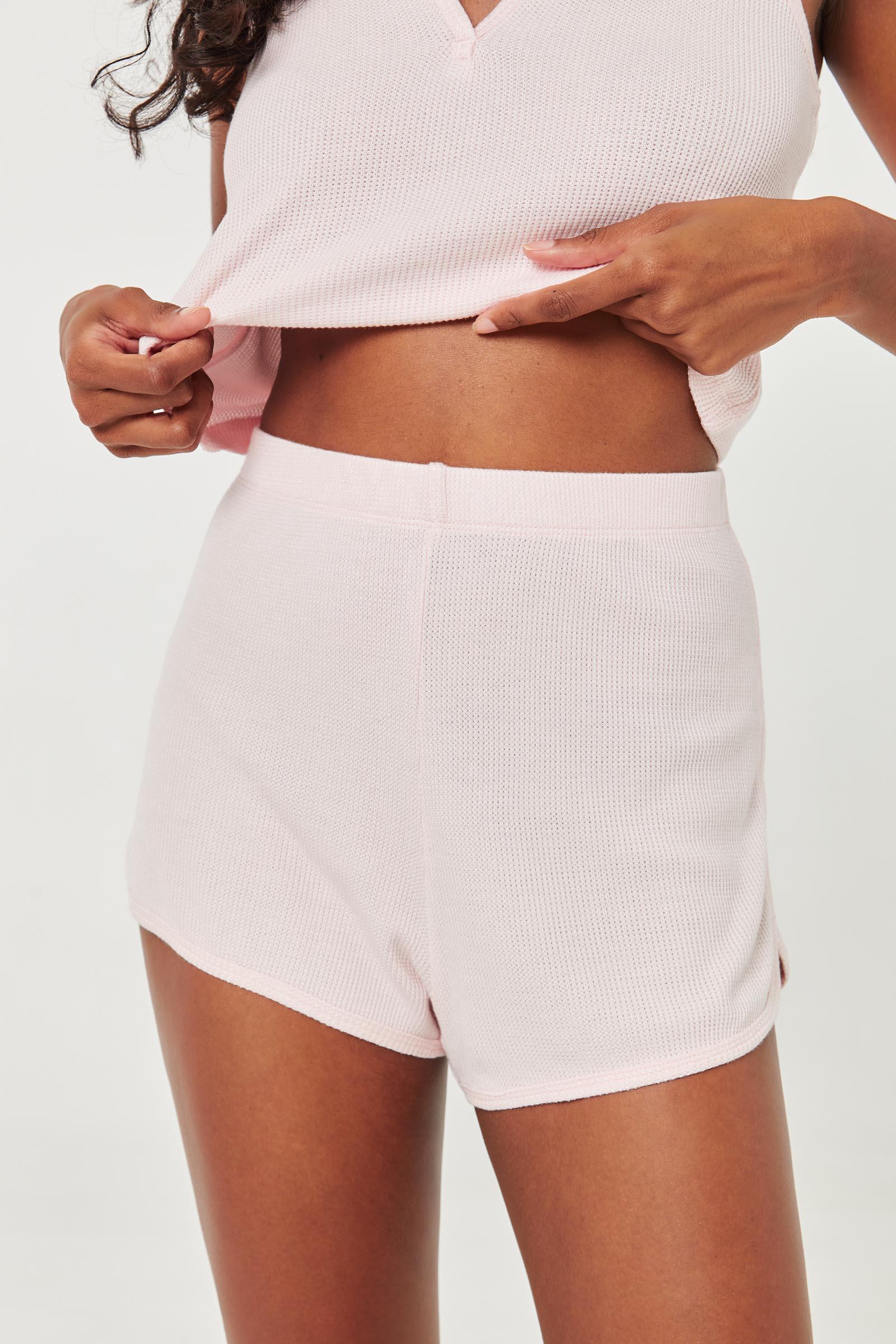 Thermal Waffle Knit PJ Shorts