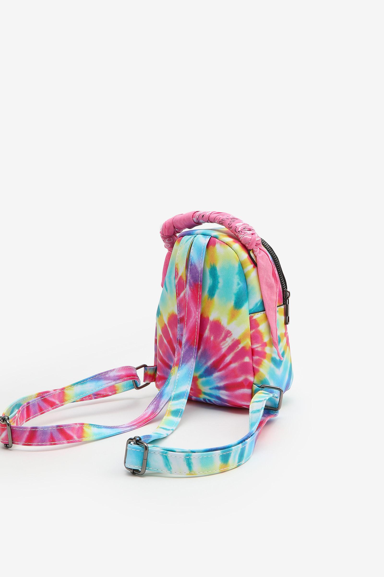 Mini sac à dos tie-dye et foulard cachemire