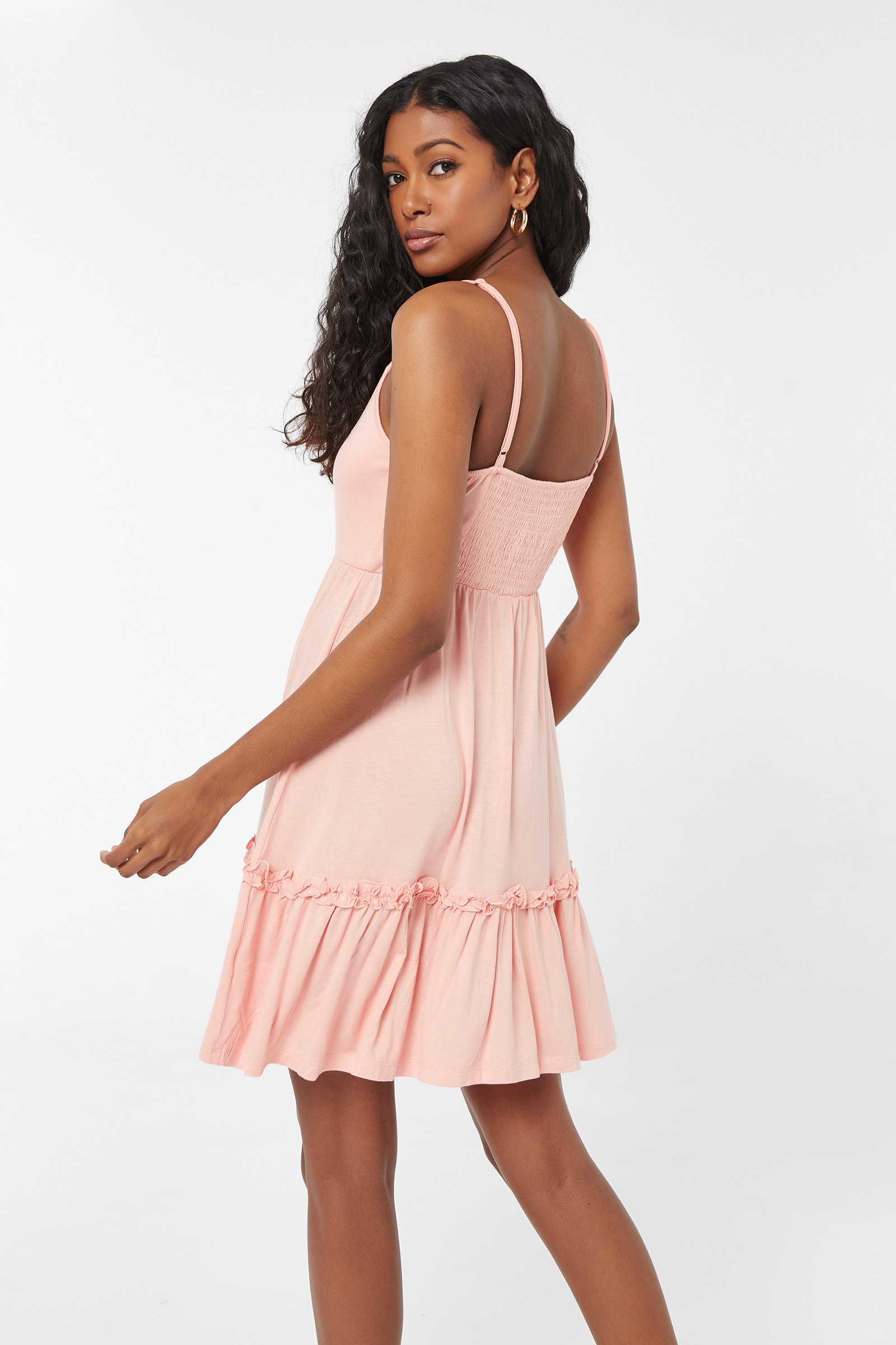 Laced Up Flounce Dress