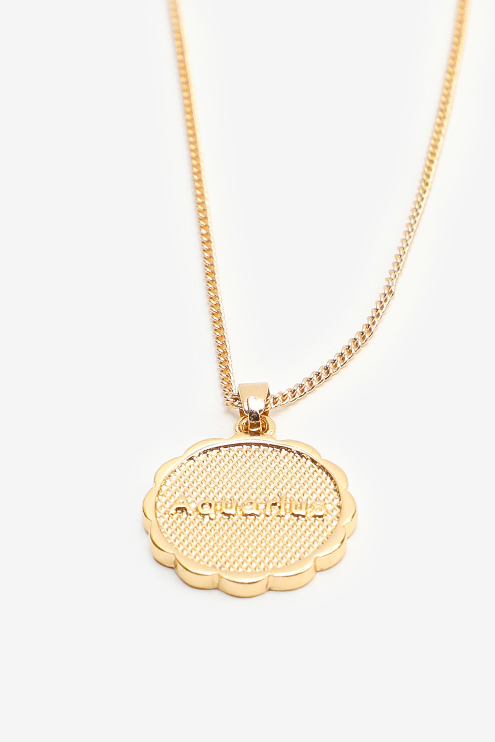 Zodiac Aquarius Pendant Necklace