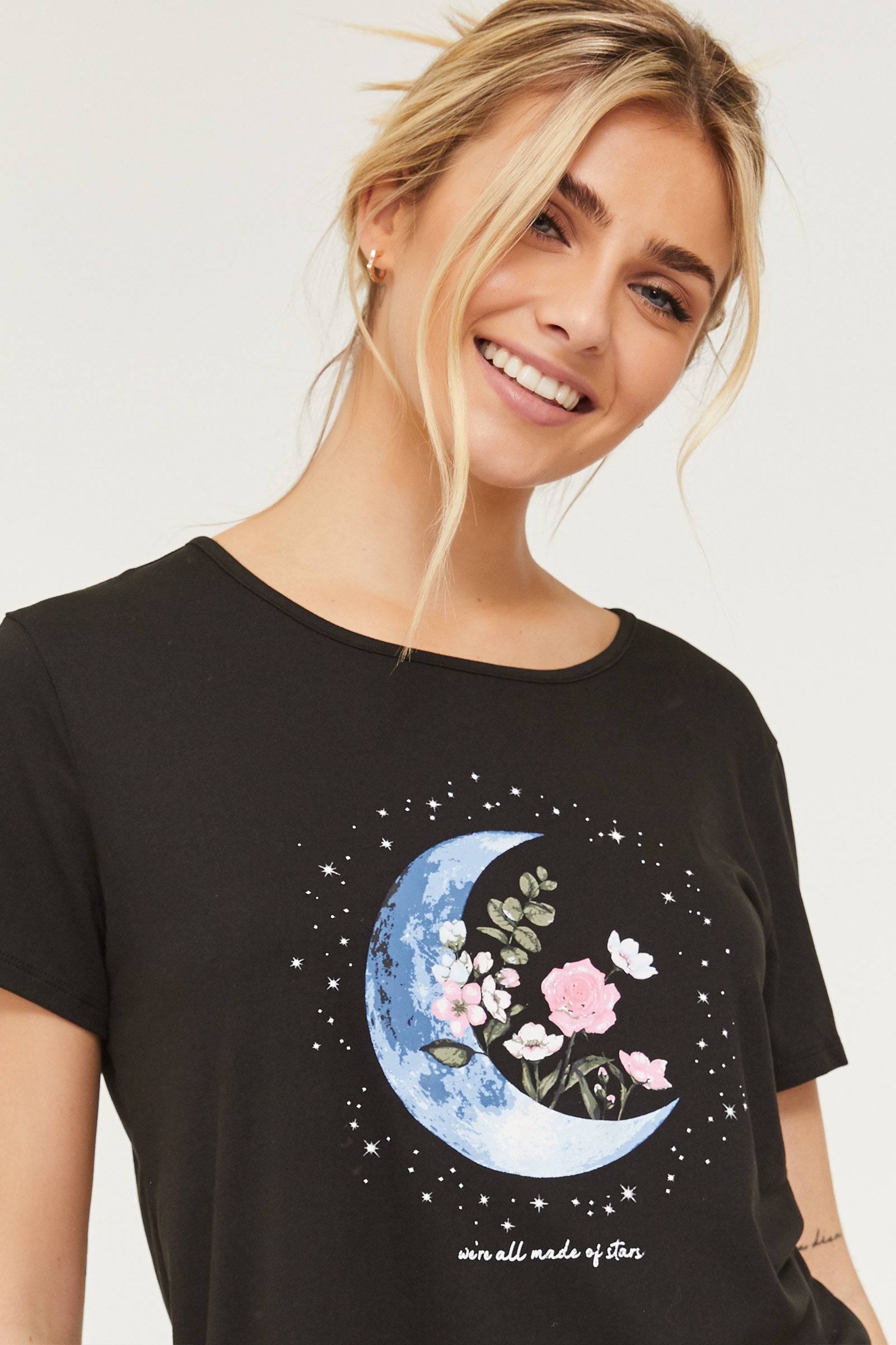 T-shirt de pyjama lune