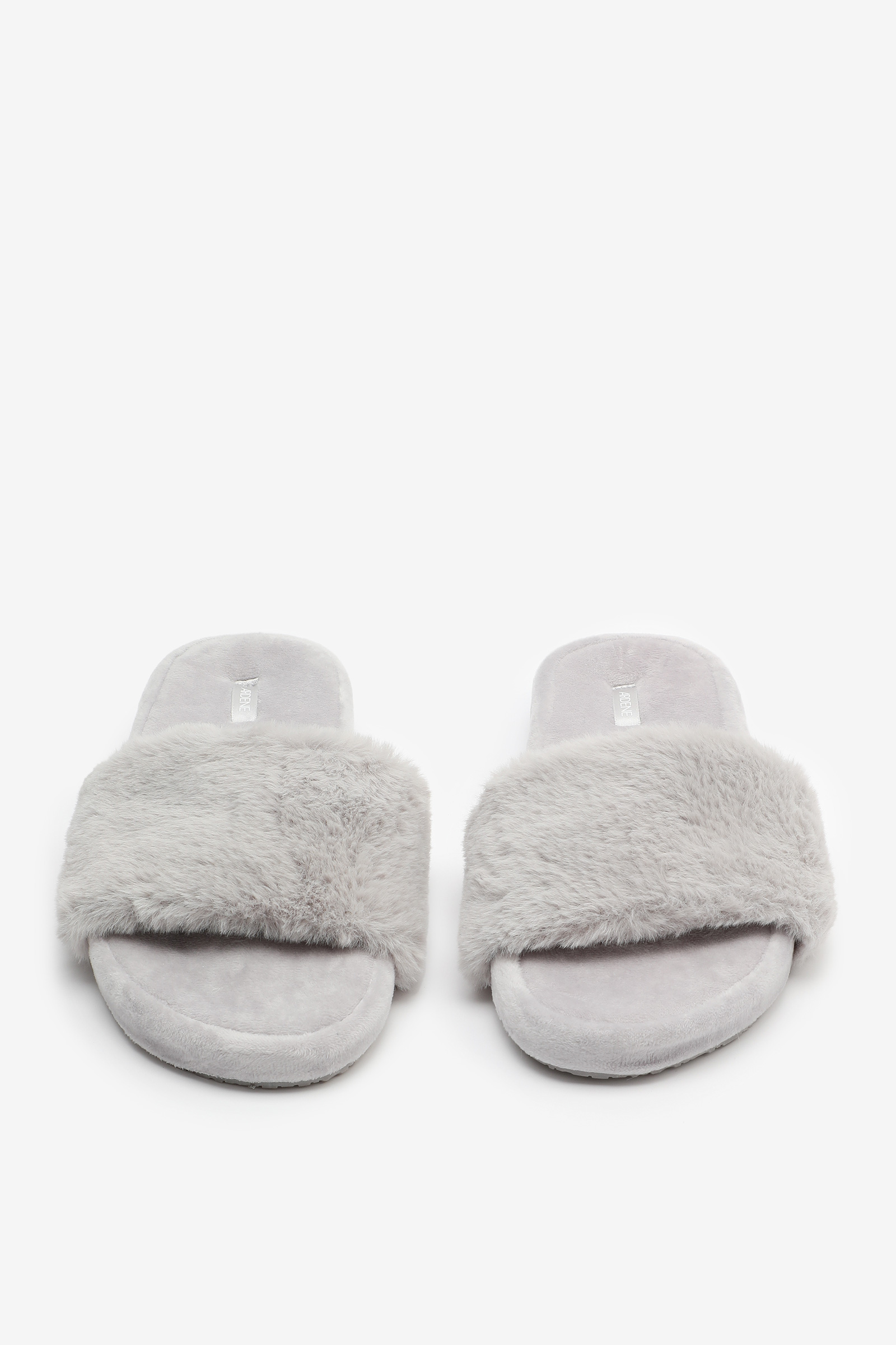 Pantoufles glissières en fausse fourrure