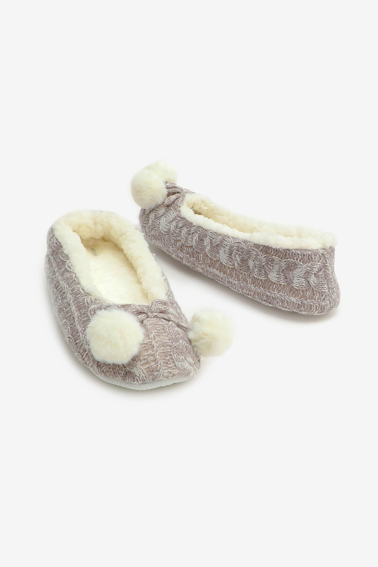Pompom Ballet Slippers