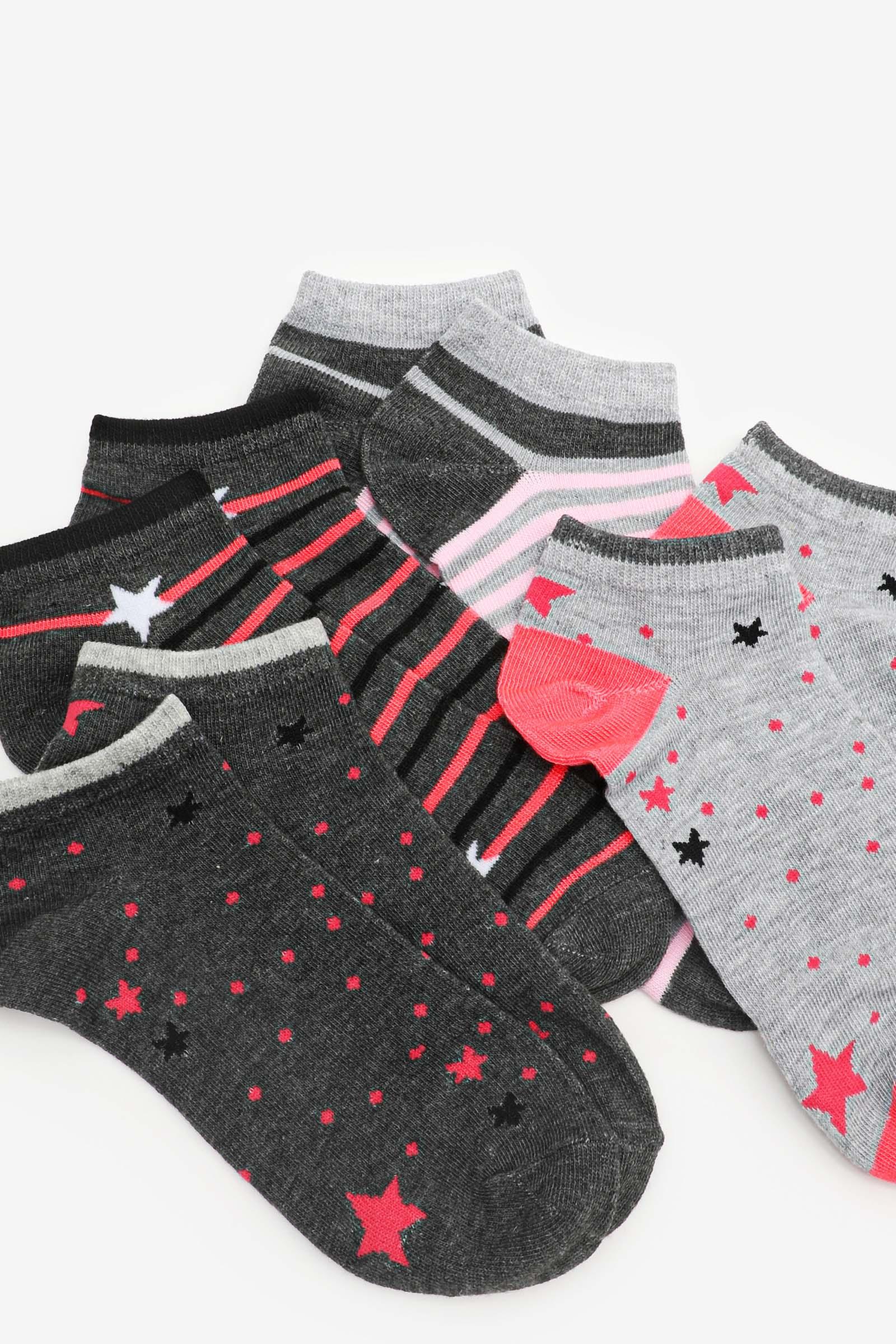 Pack of Stars & Stripes Ankle Socks