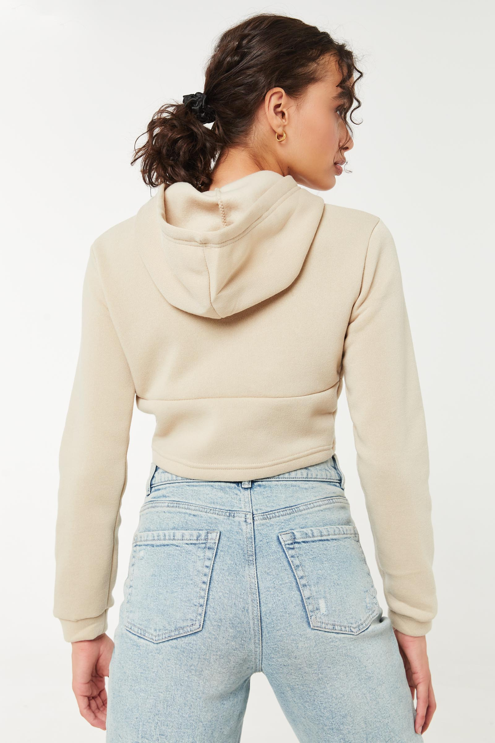 Molleton-corset à capuchon