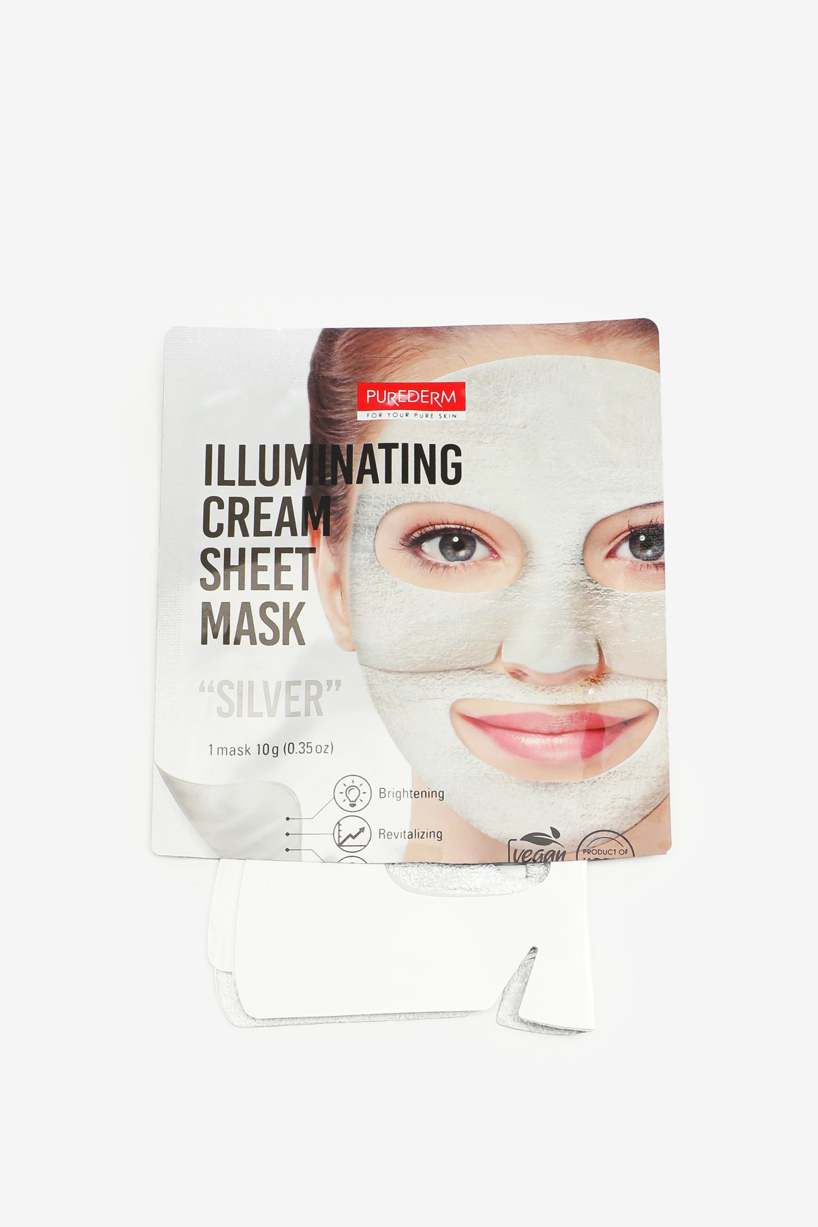 Masque en feuille à crème éclaircissante