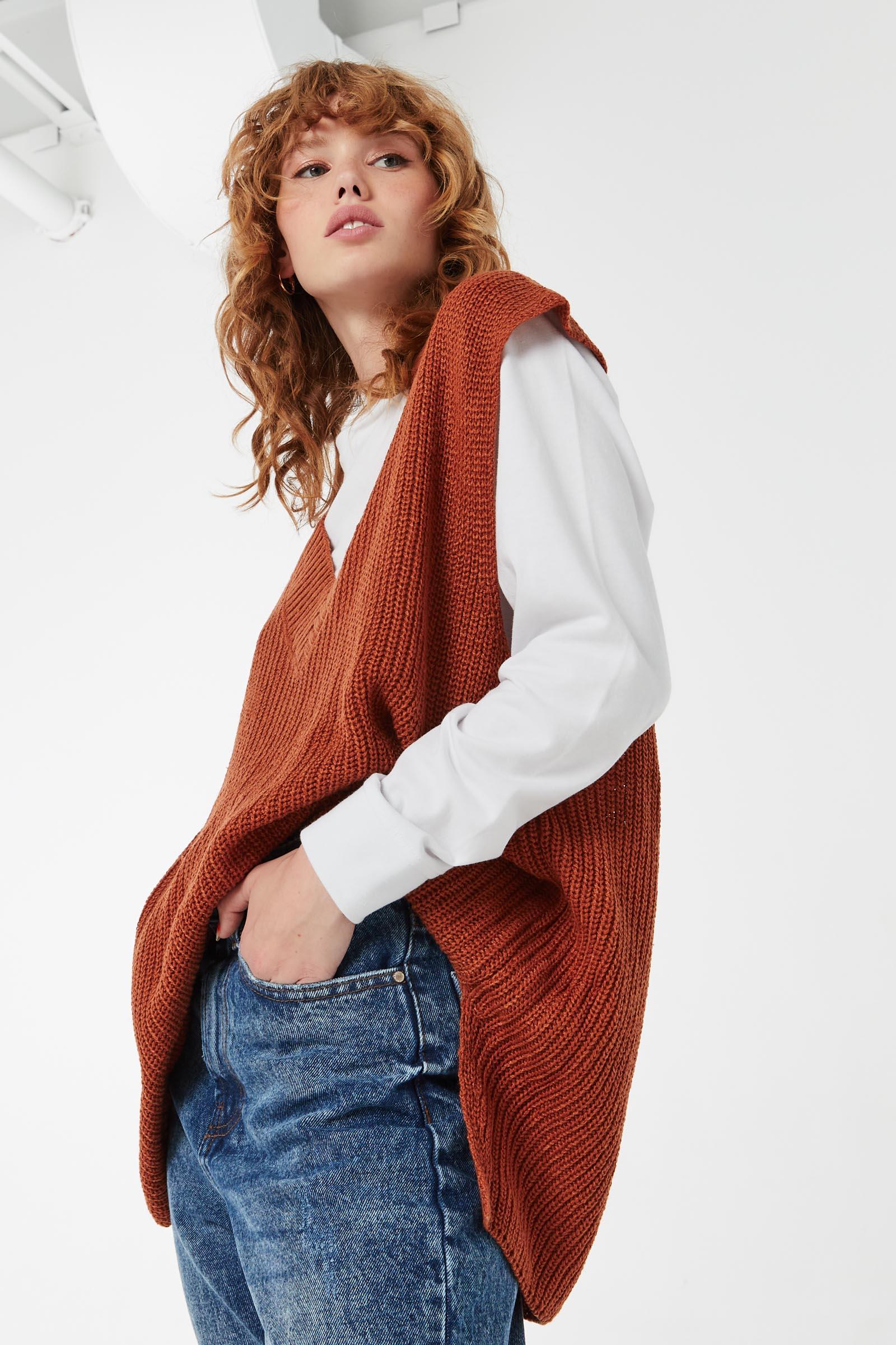 Chunky V-Neck Sweater Vest