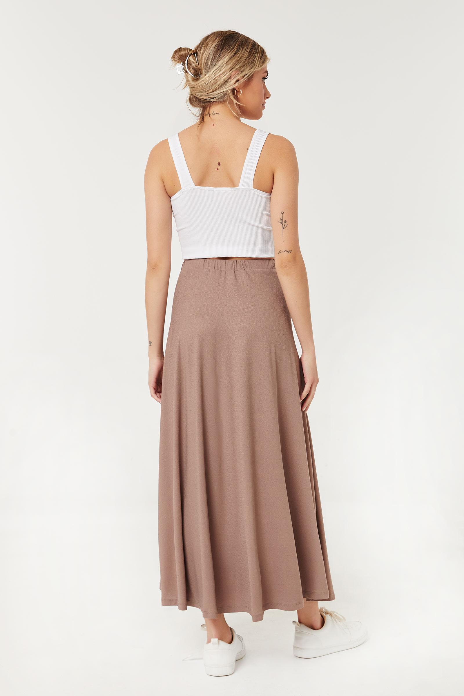 Button-Up Maxi Skirt
