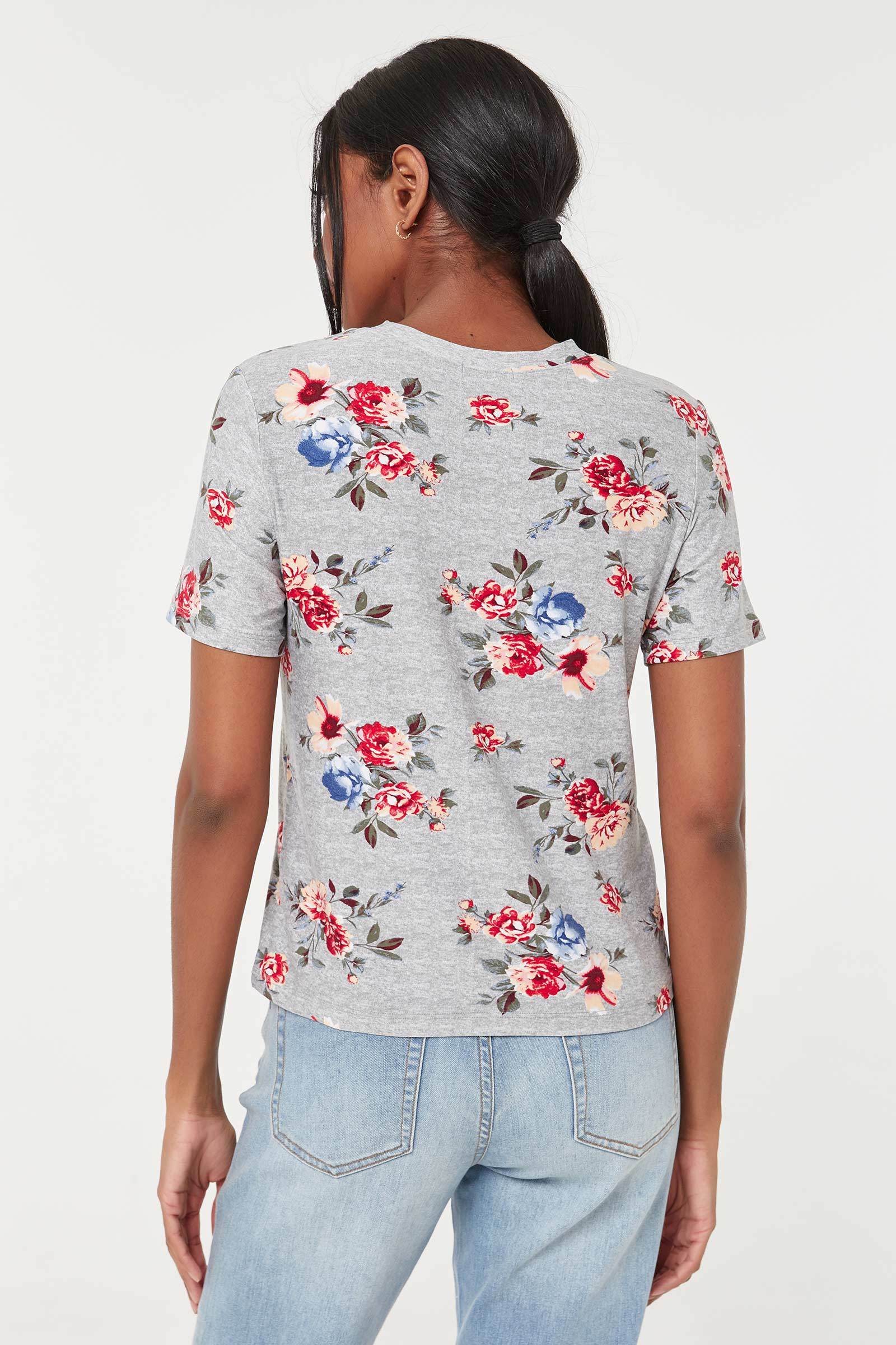 Floral with Verbiage T-shirt