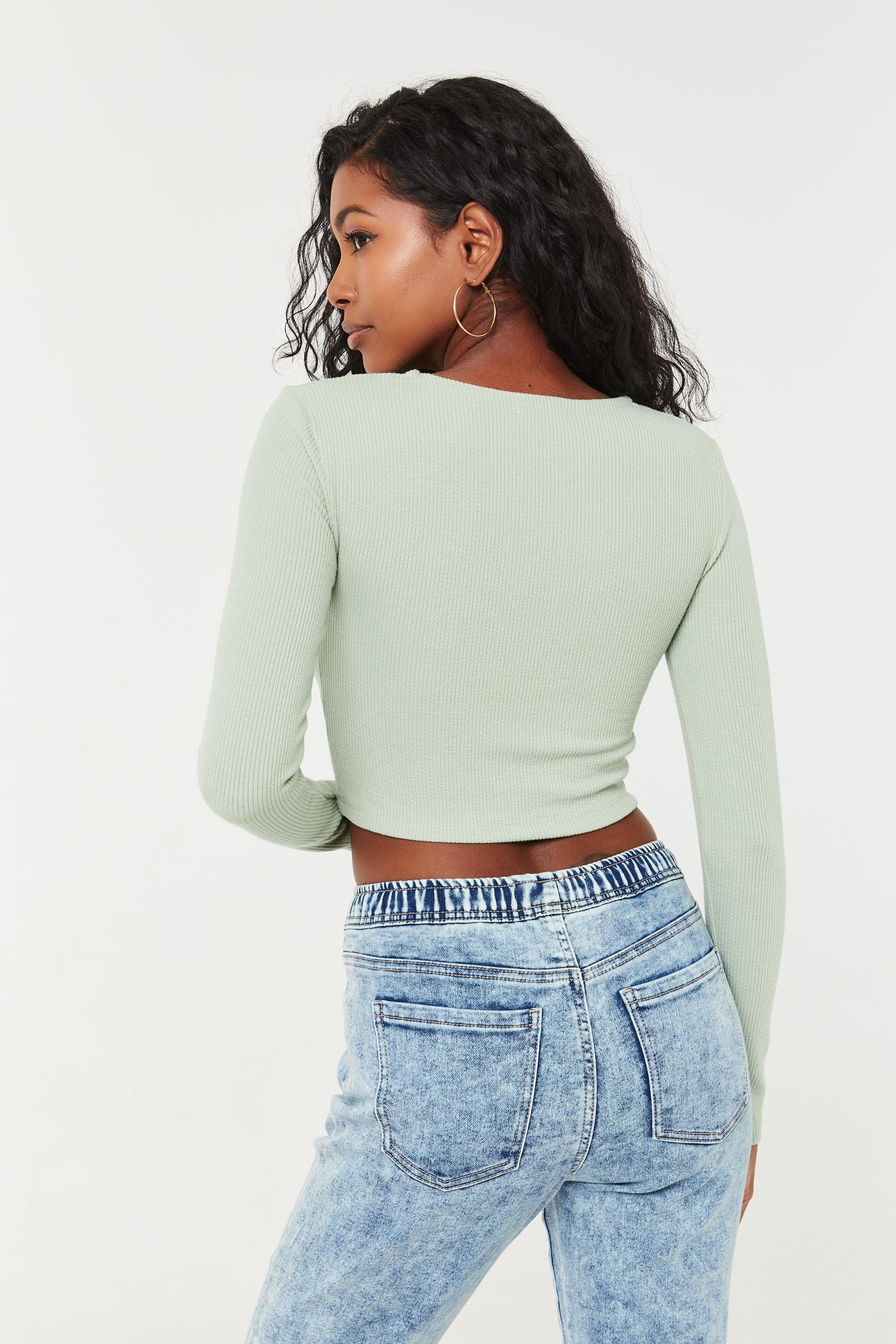 Textured Ultra Cropped Tee