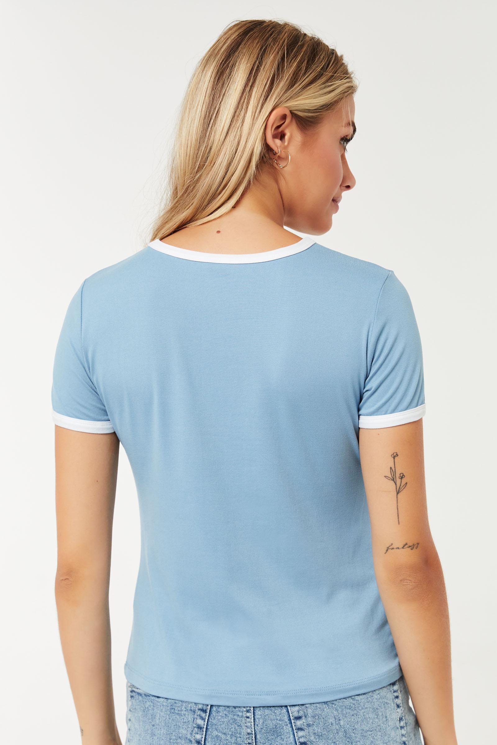 T-shirt ringer graphique