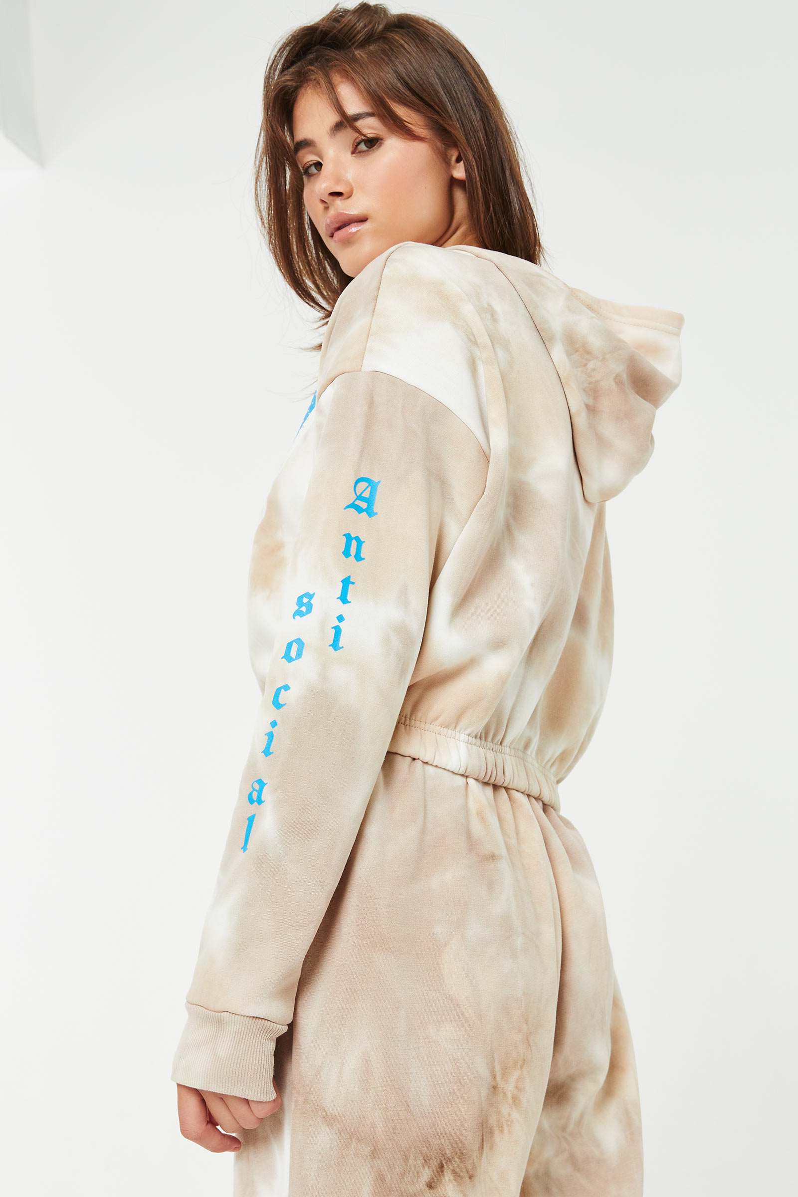 Butterfly Cropped Hoodie