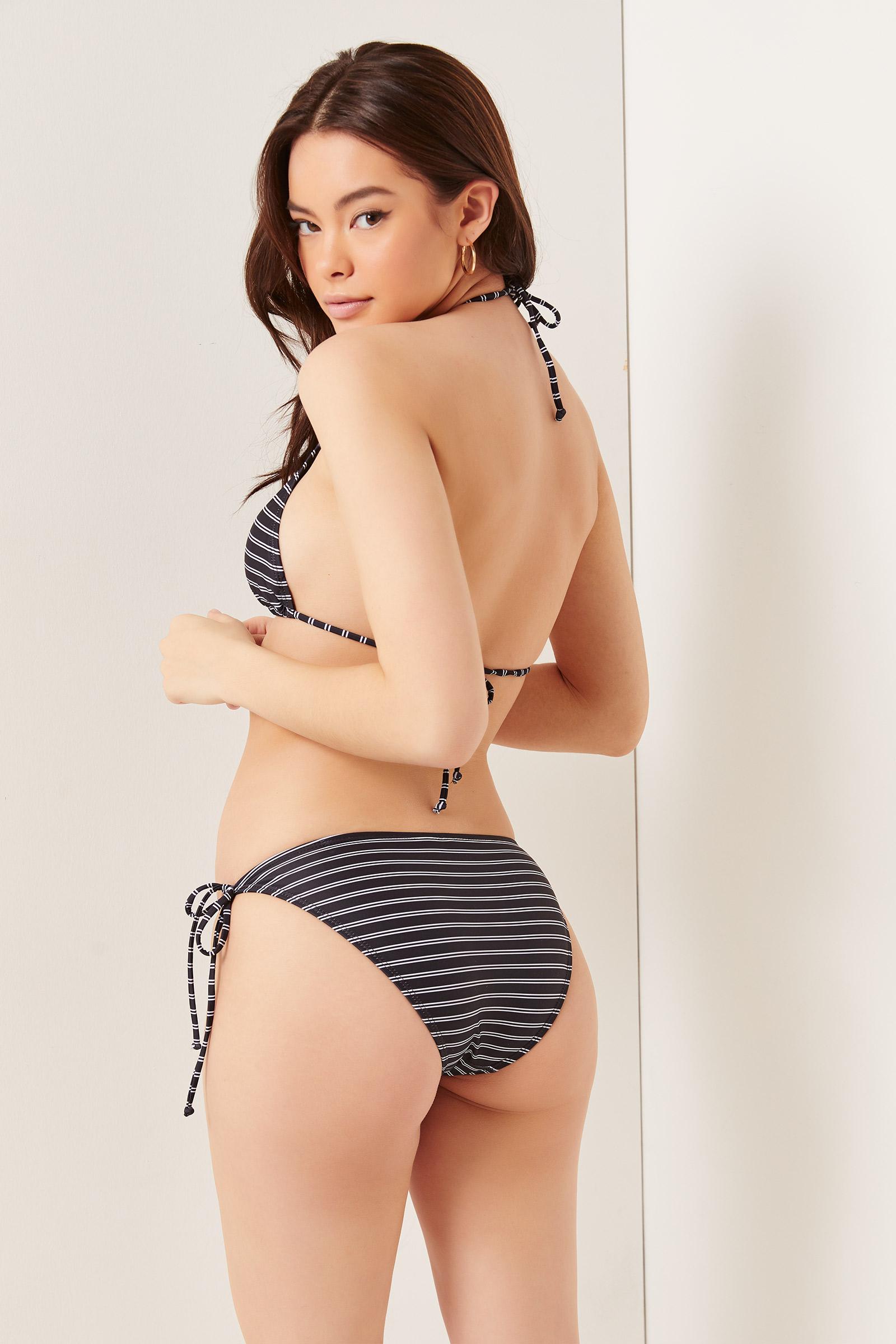 Basic Striped Bikini Bottom