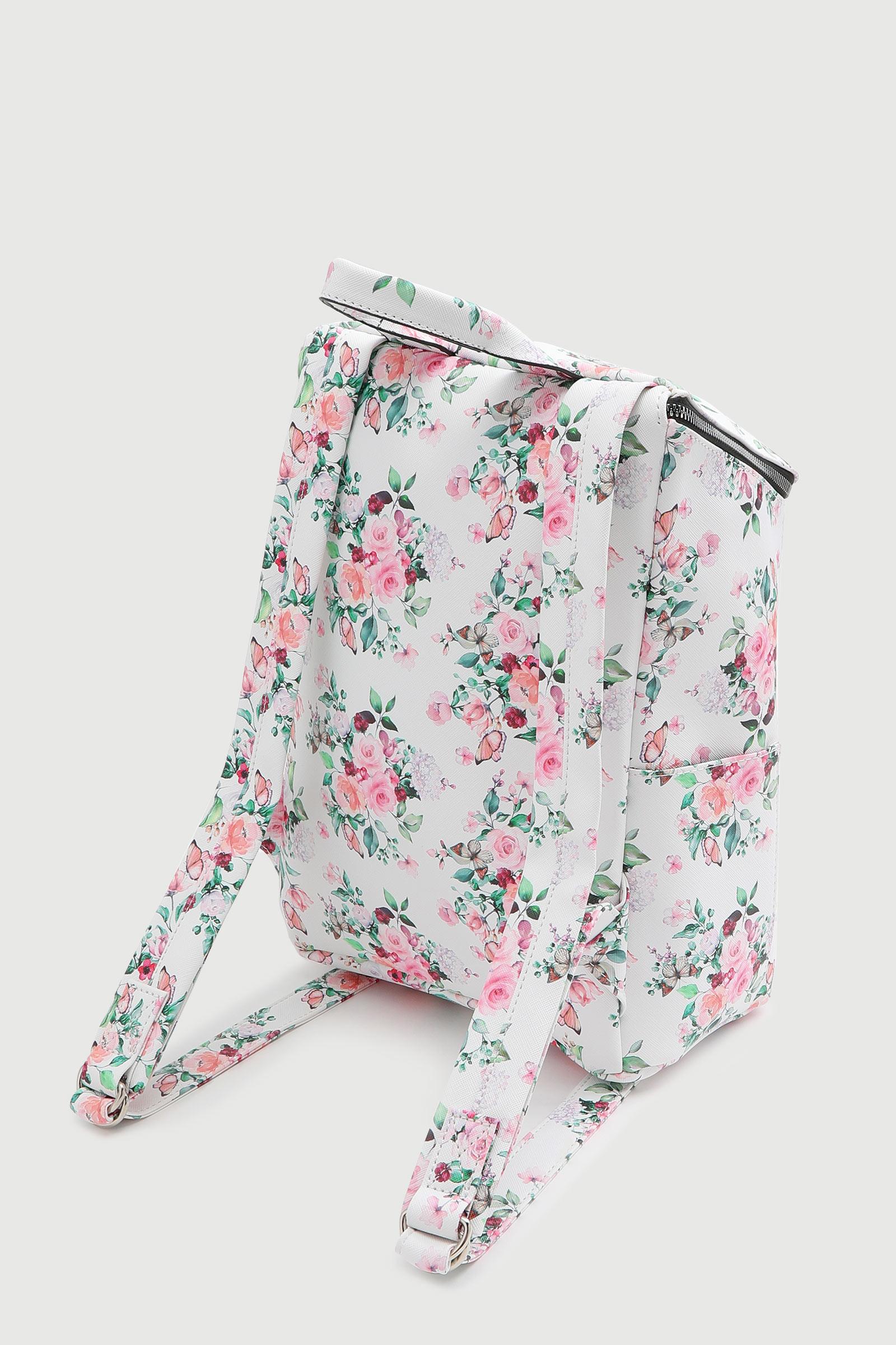 Sac à dos fleuri à zip