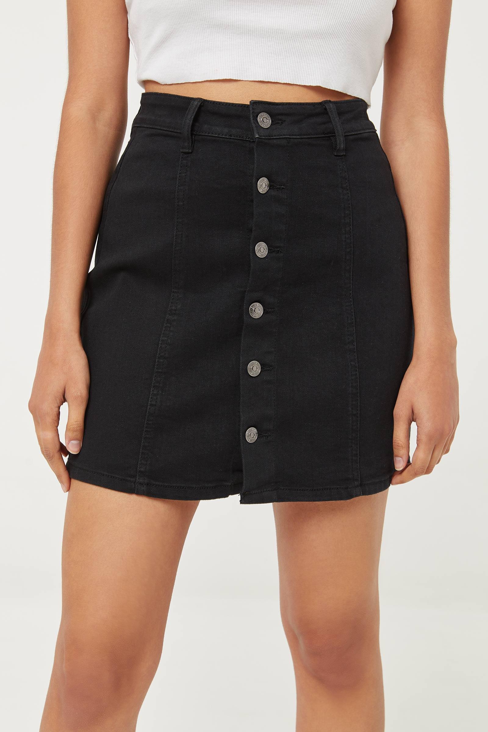 Jupe boutonnée en jean