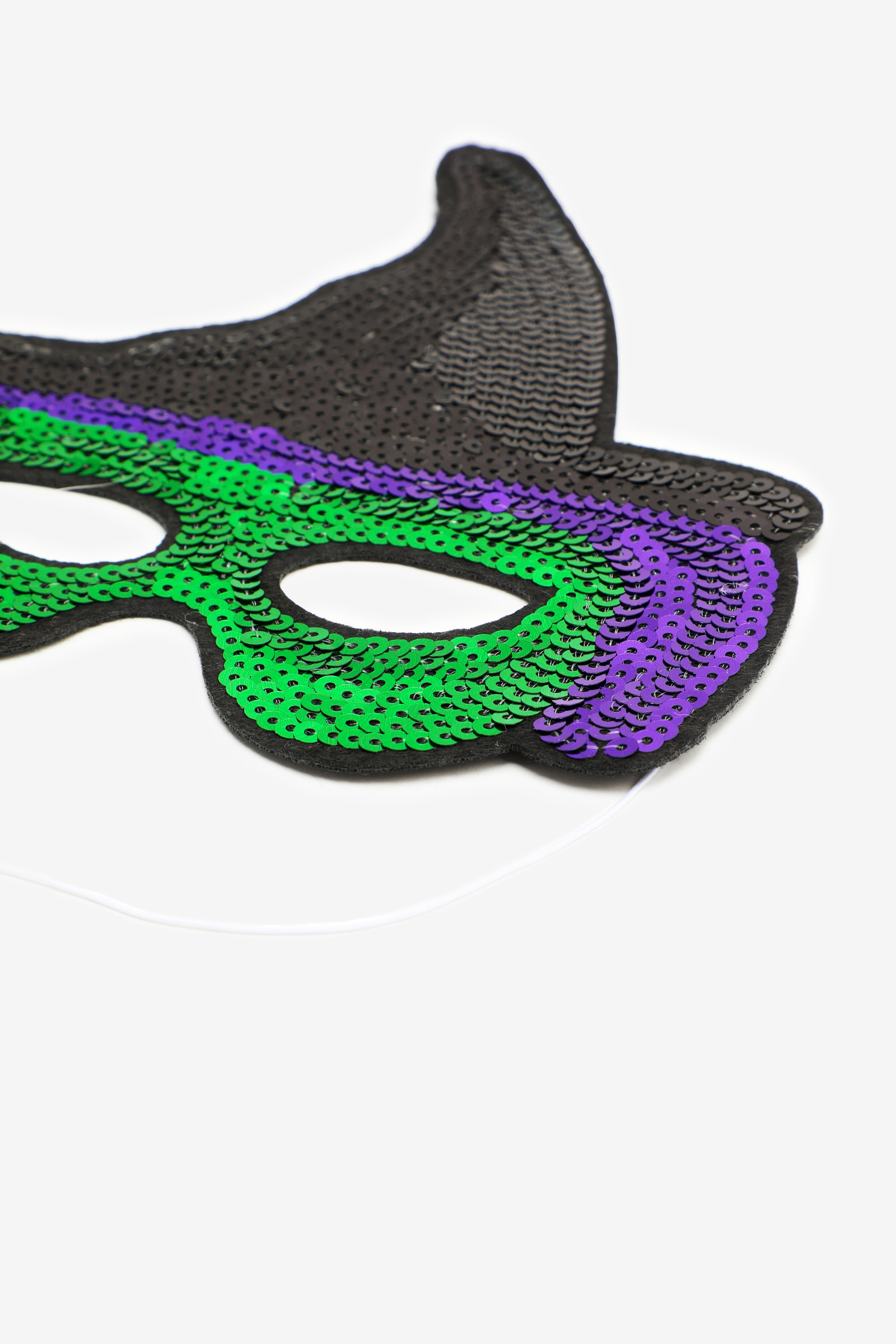 Sequin Witch Halloween Mask