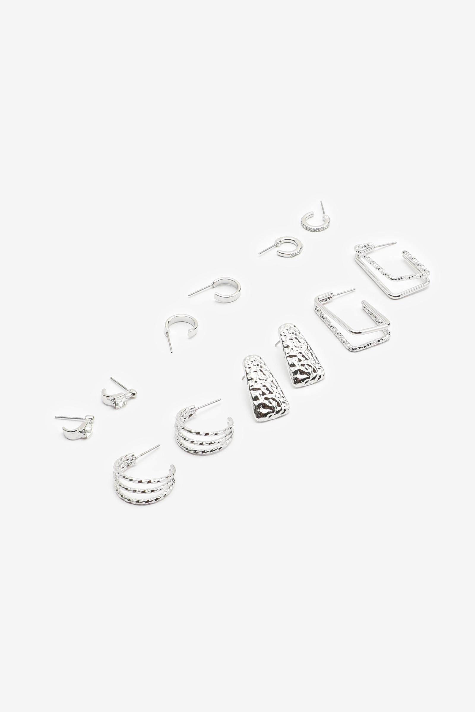 6-Pairs of Assorted Hoop Earrings