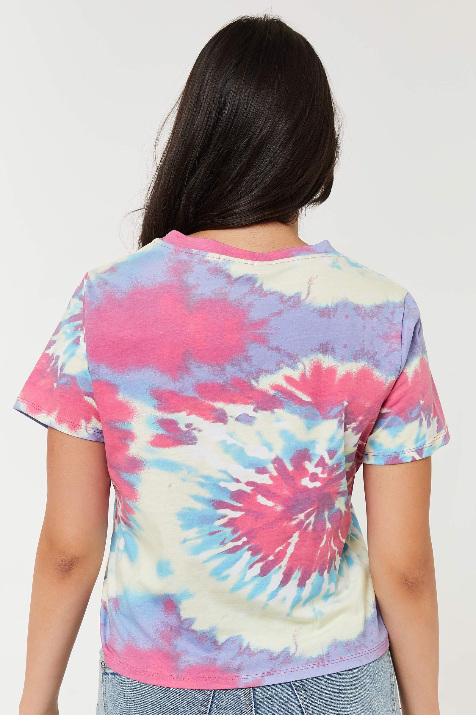 T-shirt carré tourbillon tie-dye