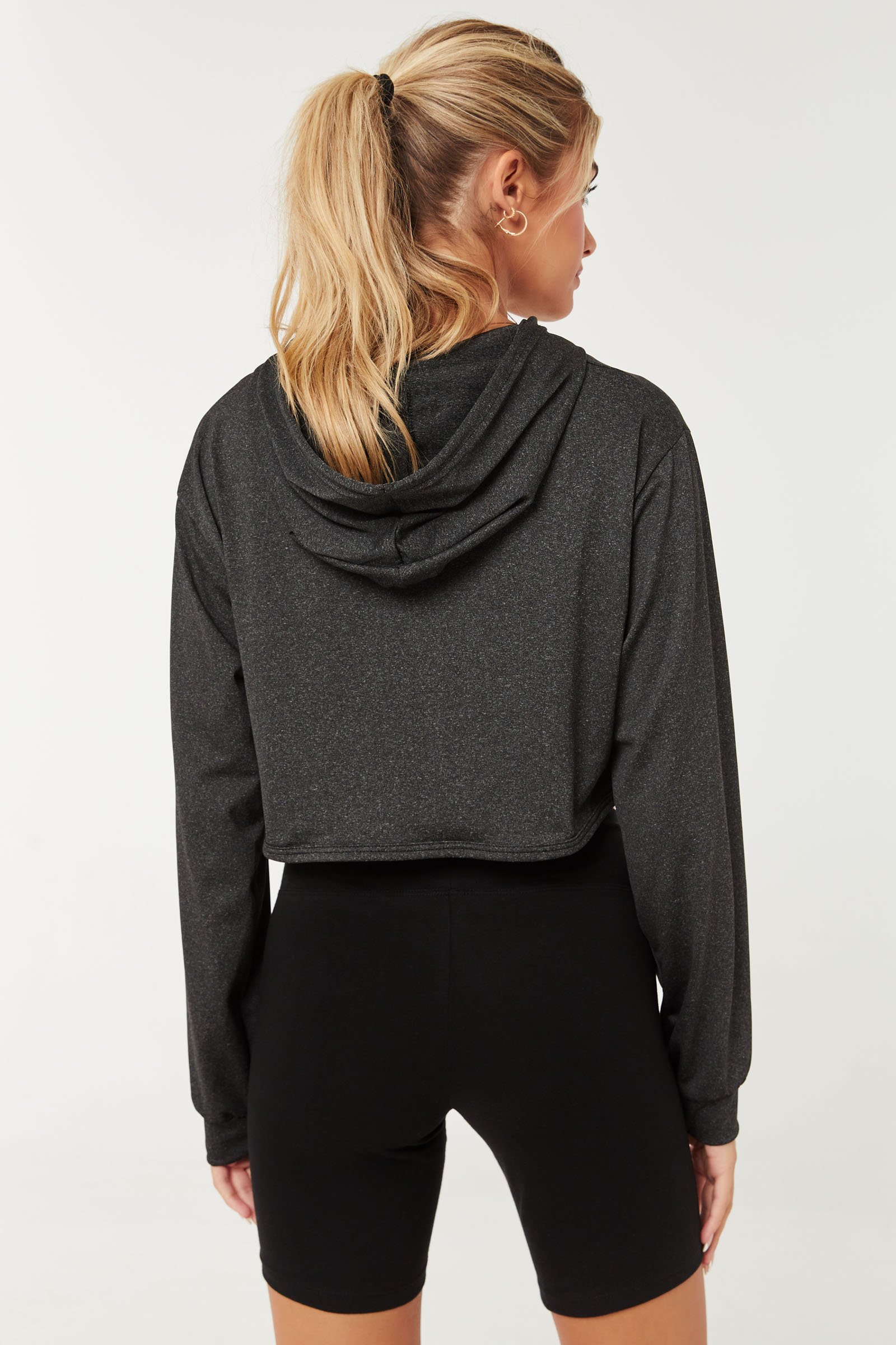 High-Low Hoodie with Tank Top