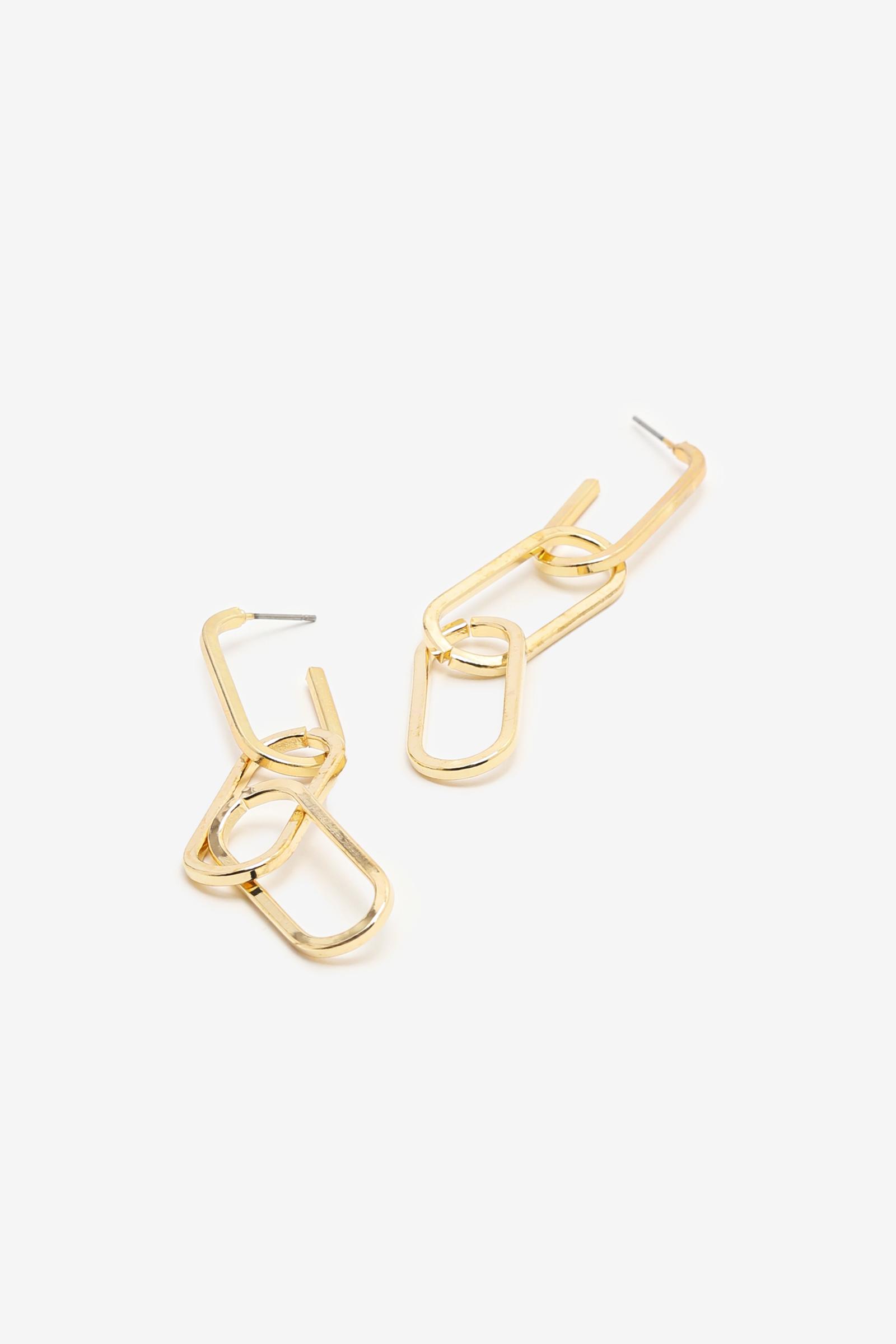 Gold Chain-Link Earrings