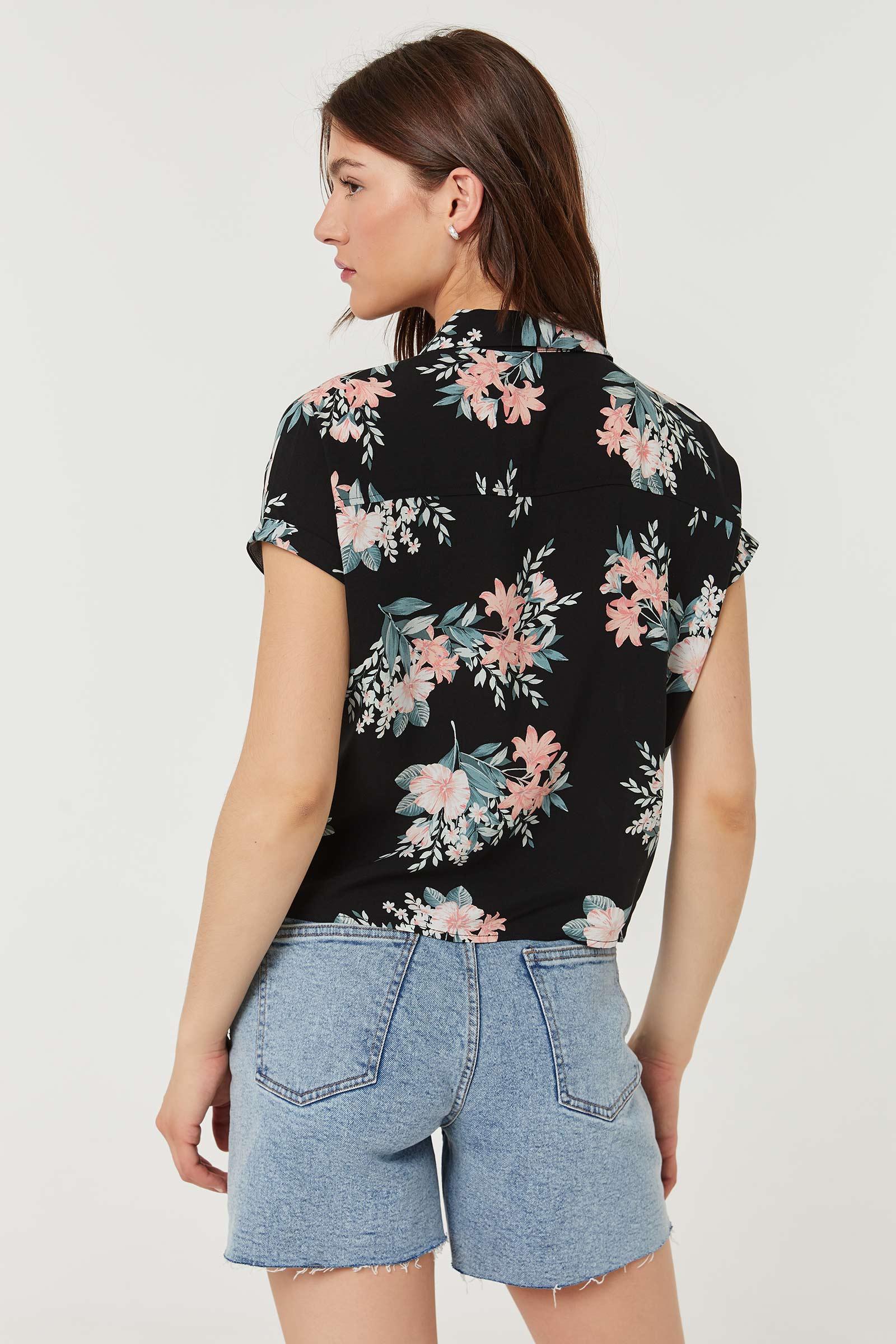 Chemise boutonnée fleurie