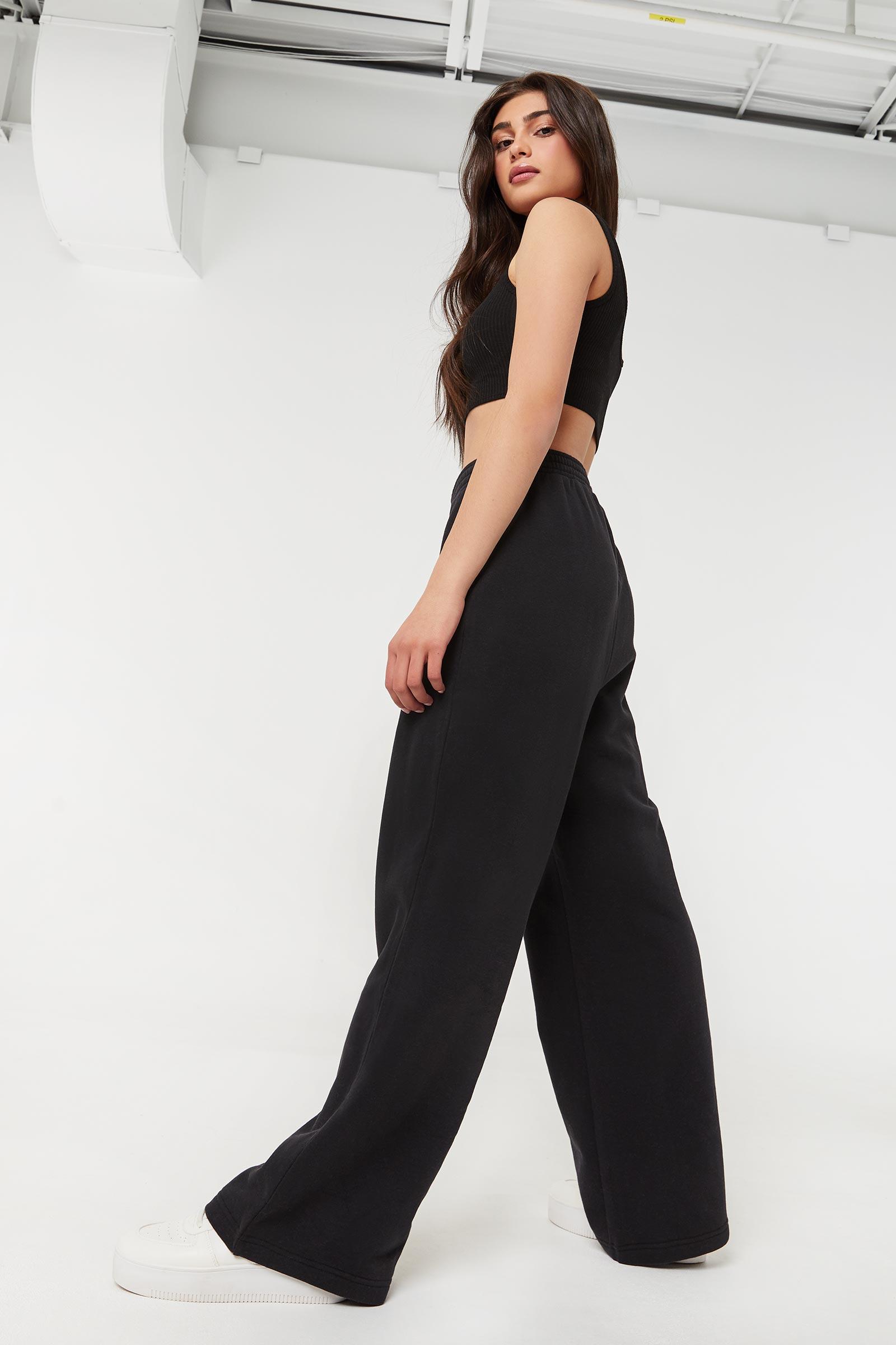 Eco-conscious Wide Leg Sweatpants