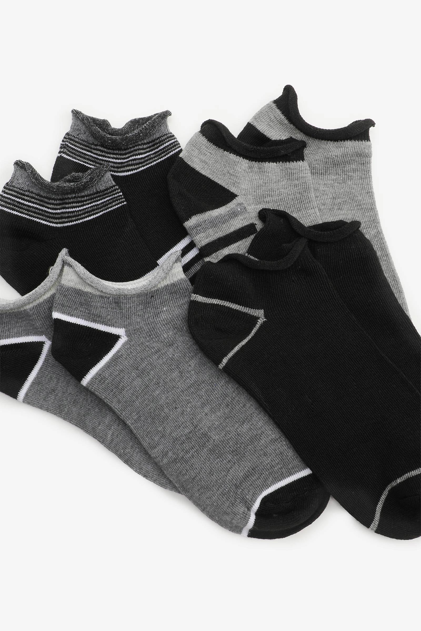 Pack of Rolled-Cuff Ankle Socks