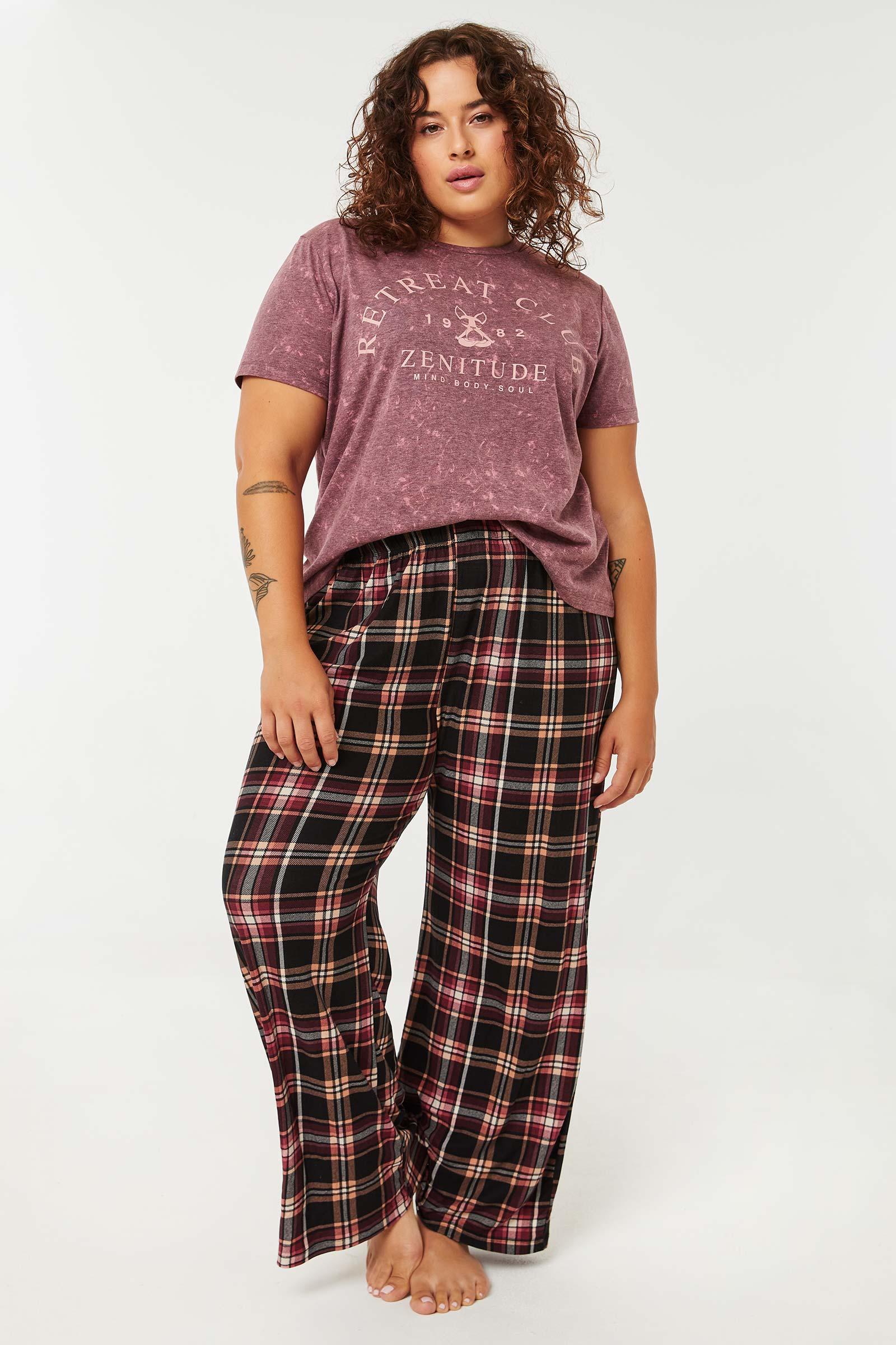 Plaid Super Soft Flare PJ Pants