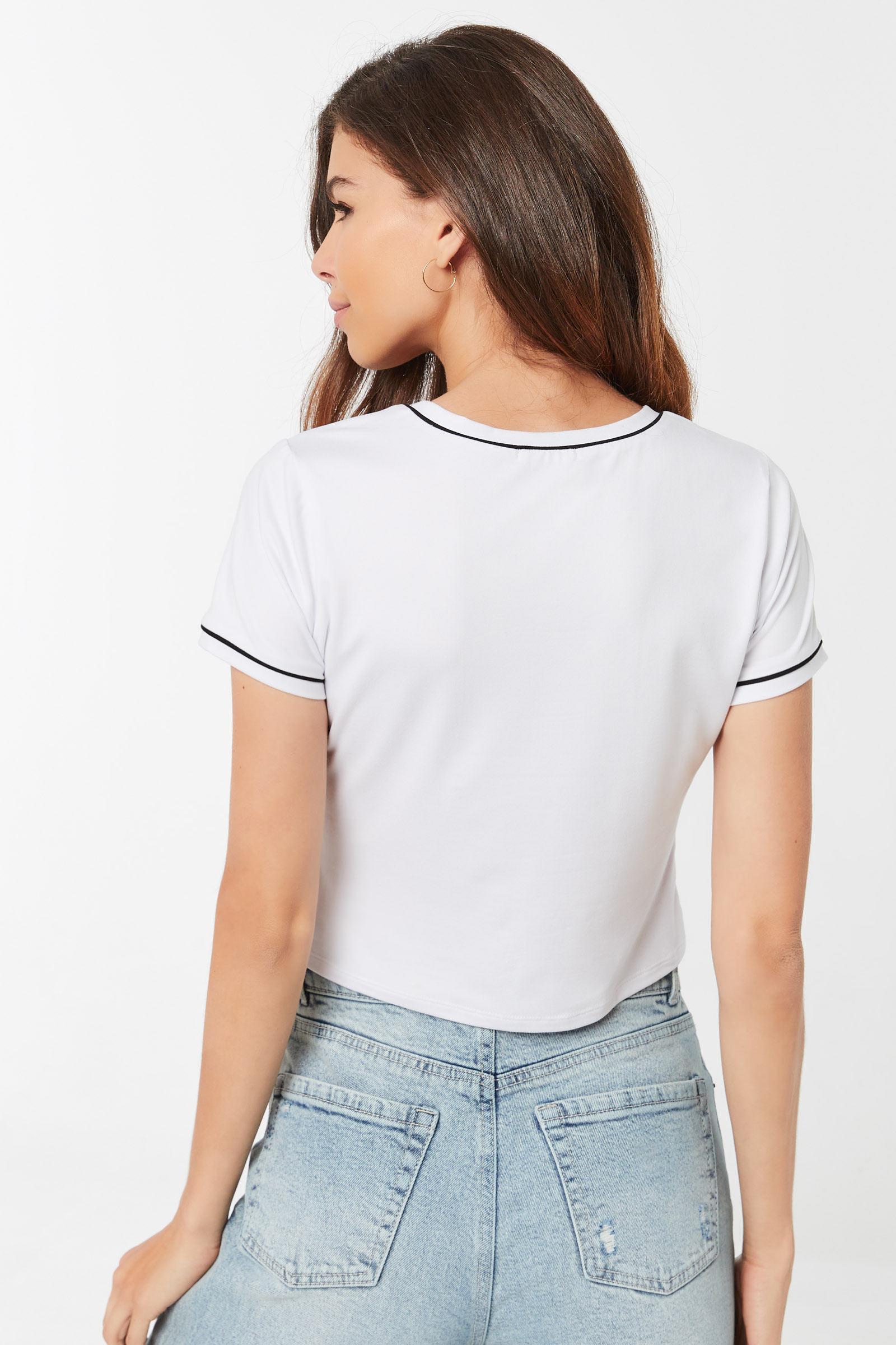 T-shirt graphique passepoil