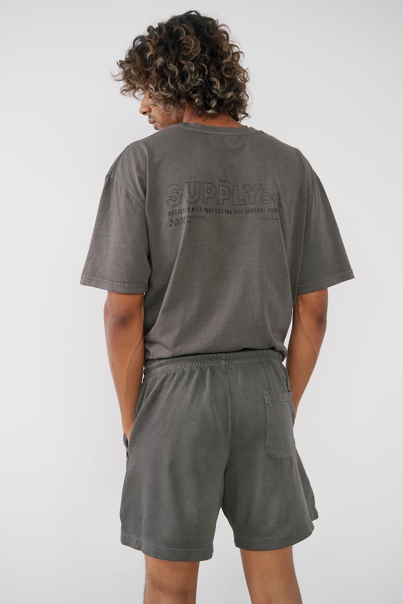 Short détente en coton pour hommes