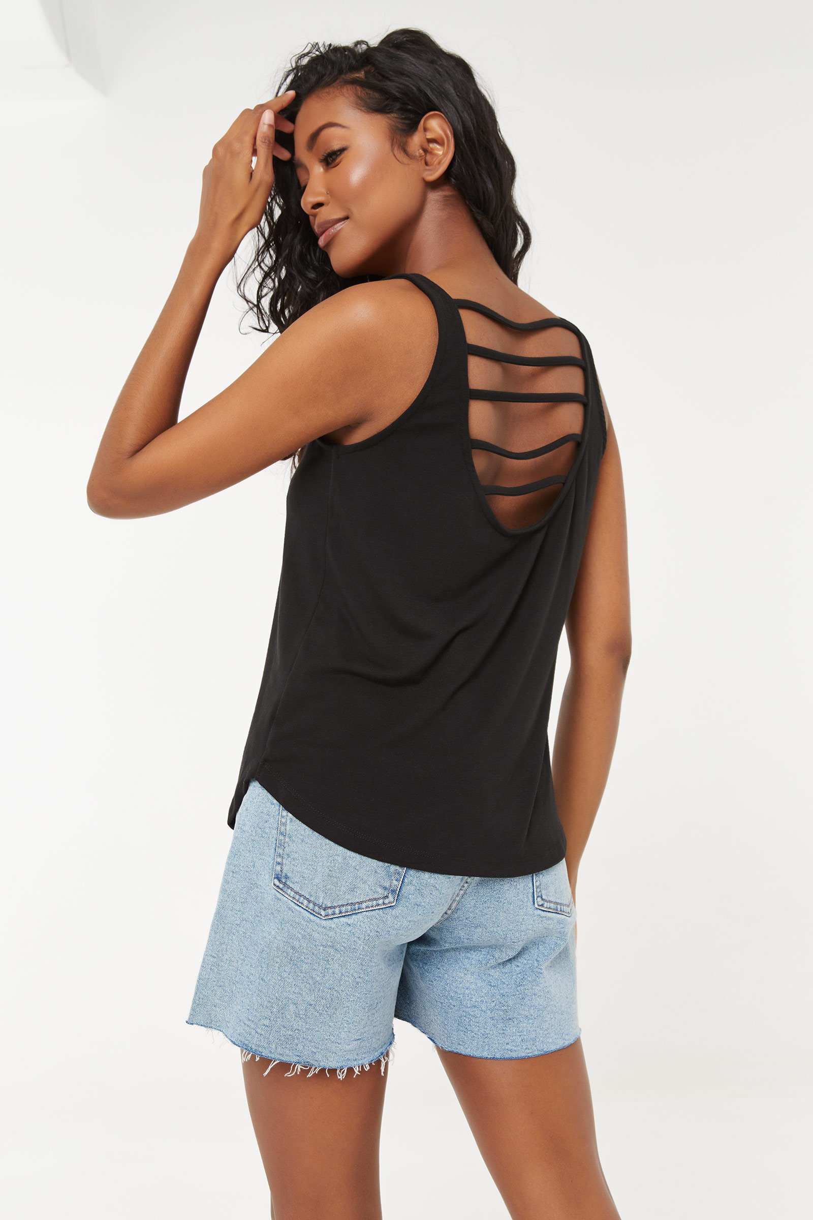 Long Tank with Strappy Back
