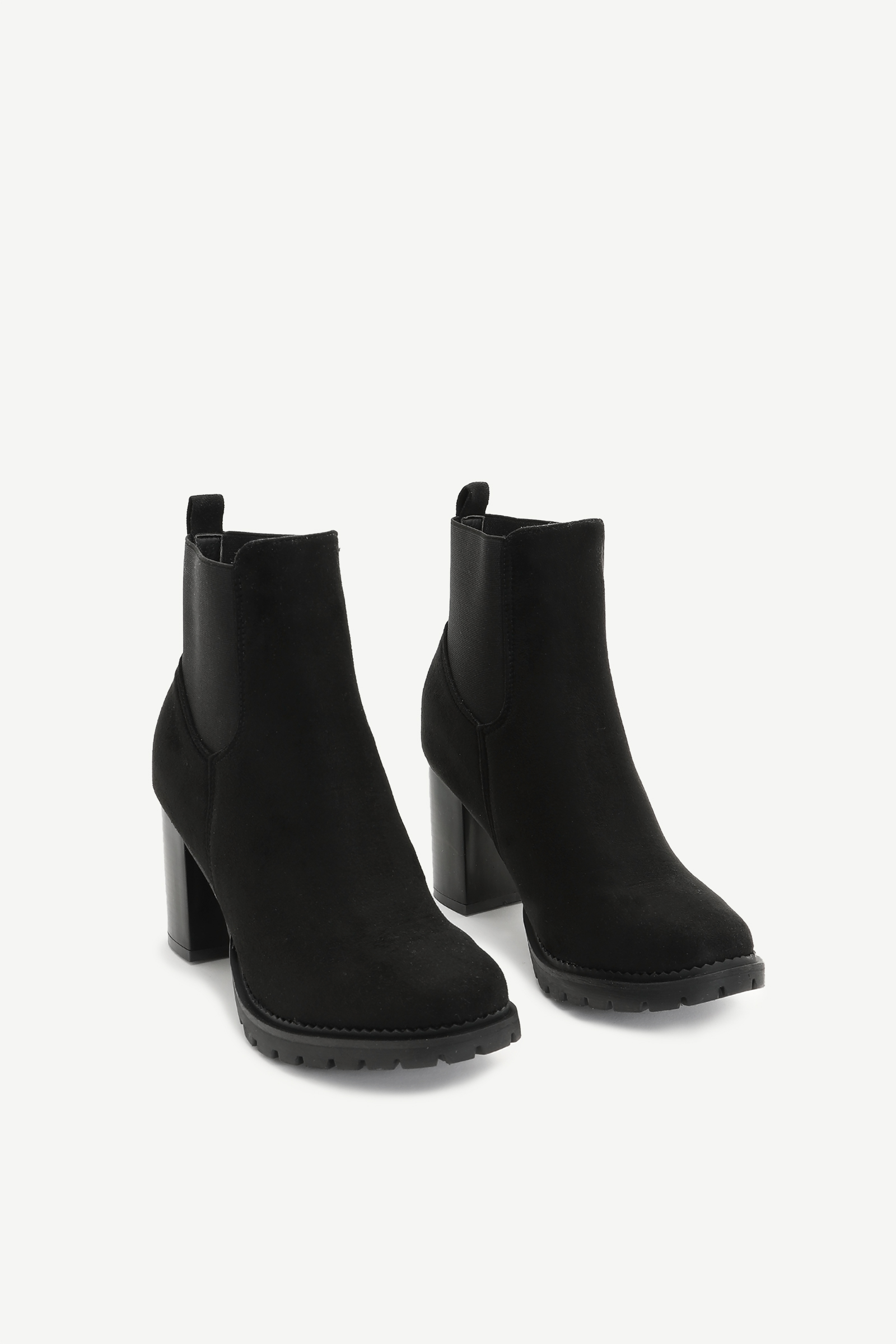 Faux Suede Chelsea Booties