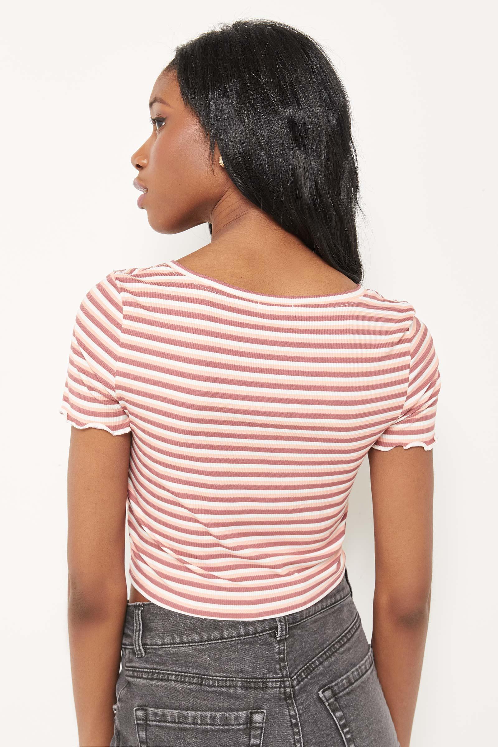 T-shirt court boutonné