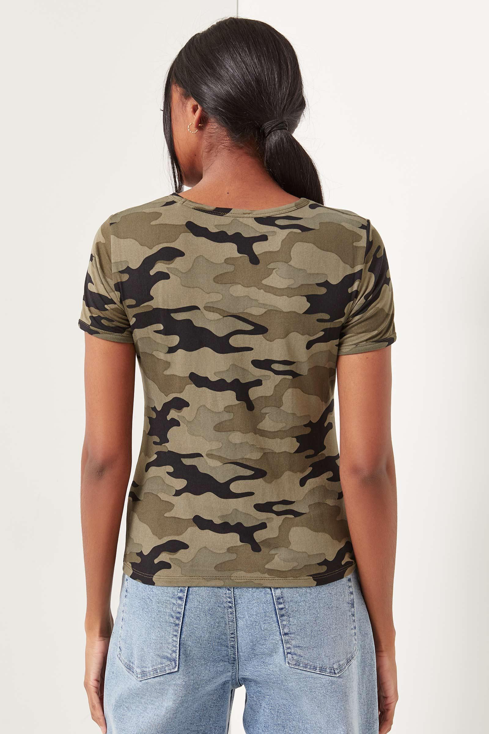 T-shirt ringer camo