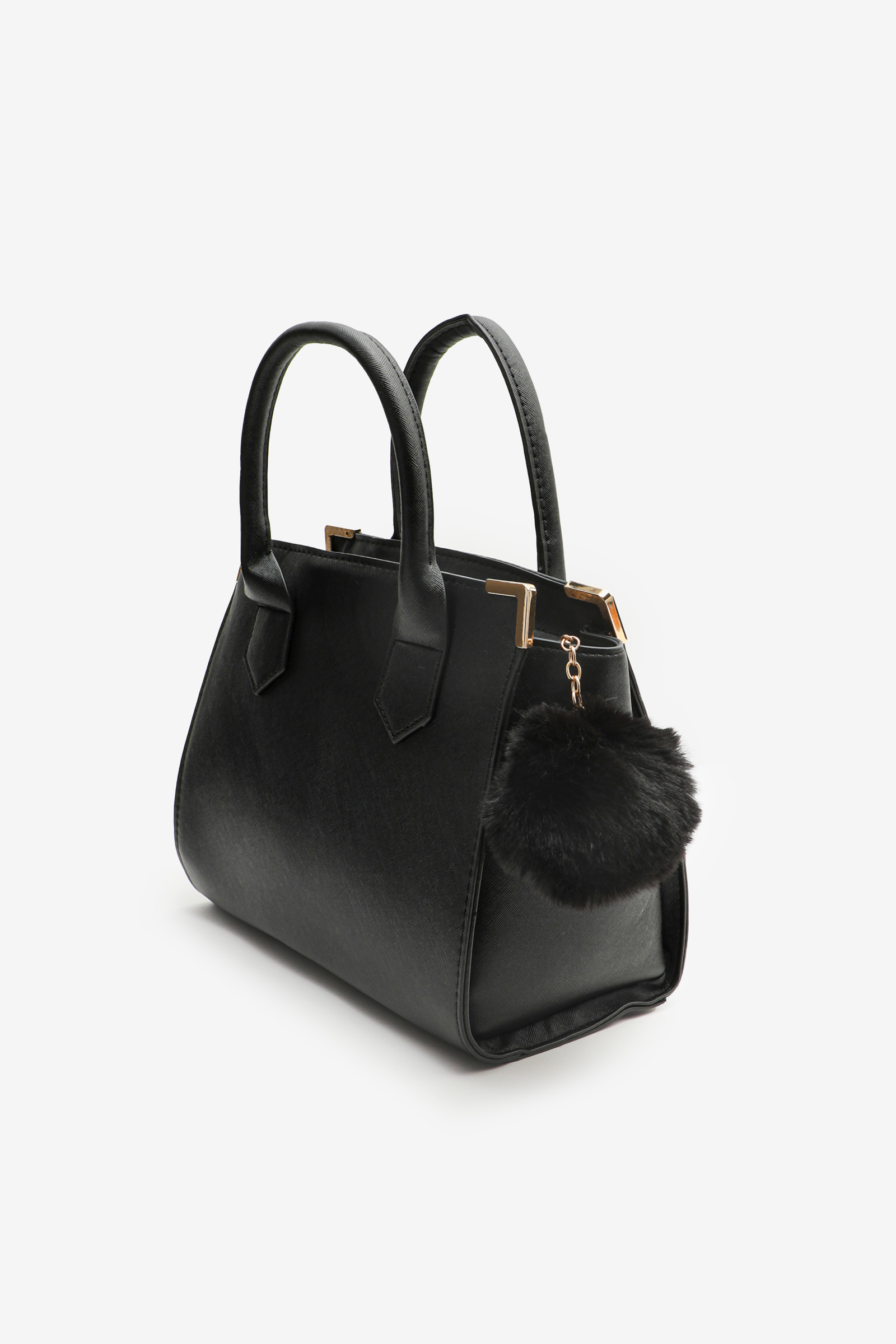 Medium Tote Bag with Pompom