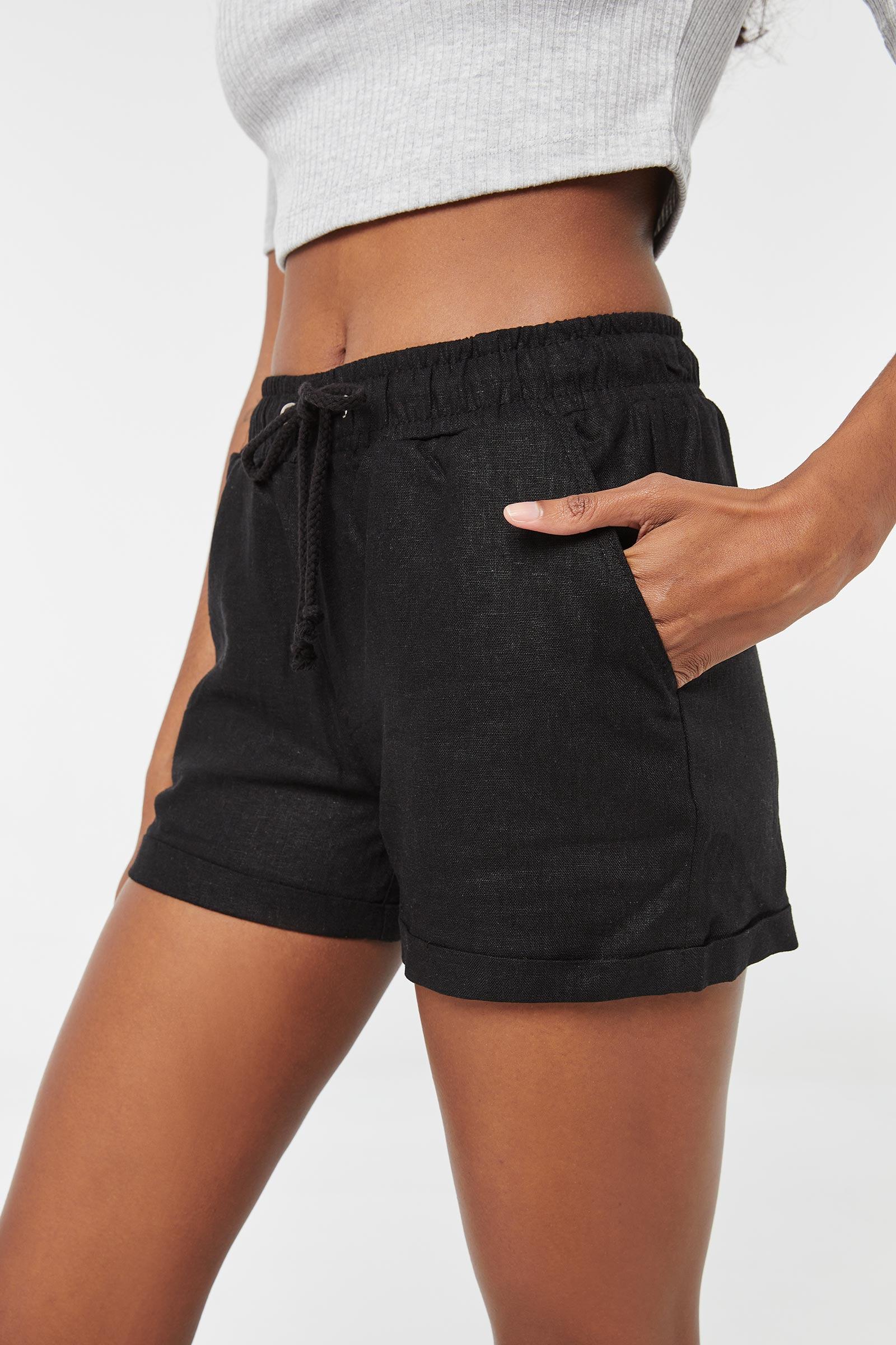 High Rise Linen Shorts