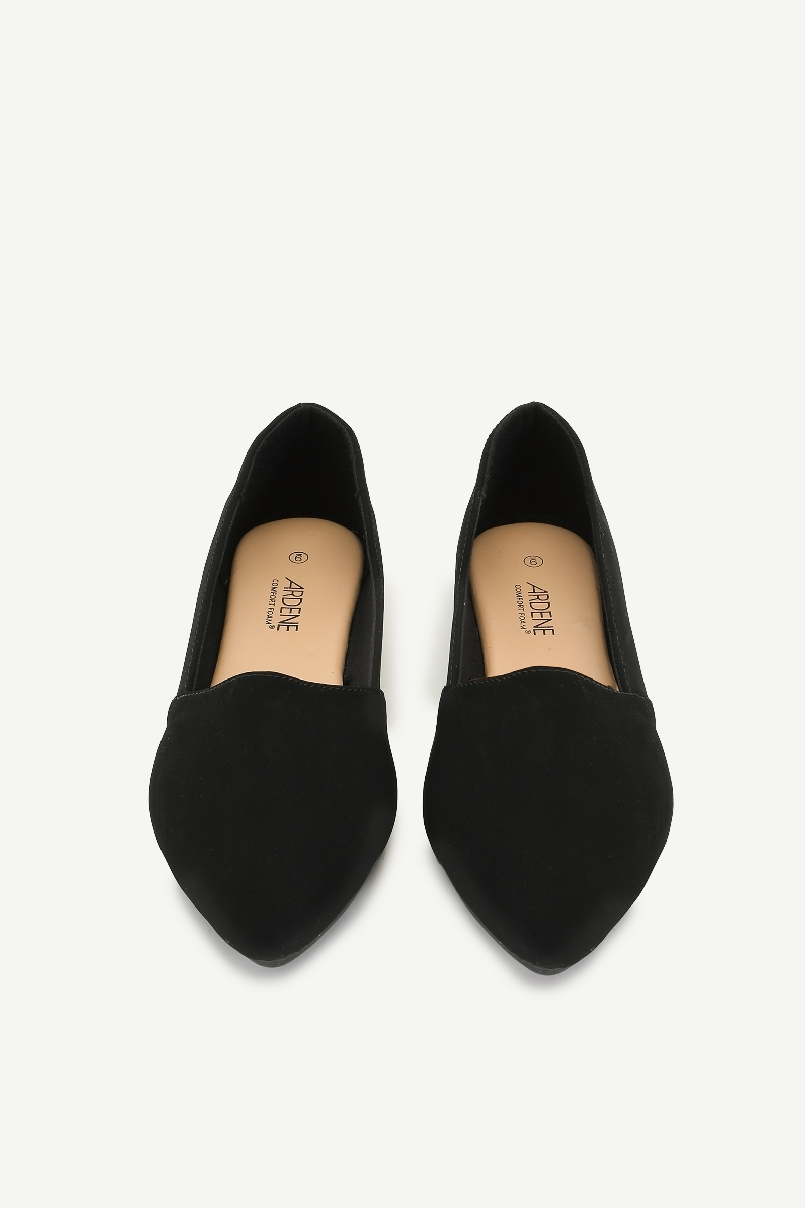 Microsuede Pointy Flats