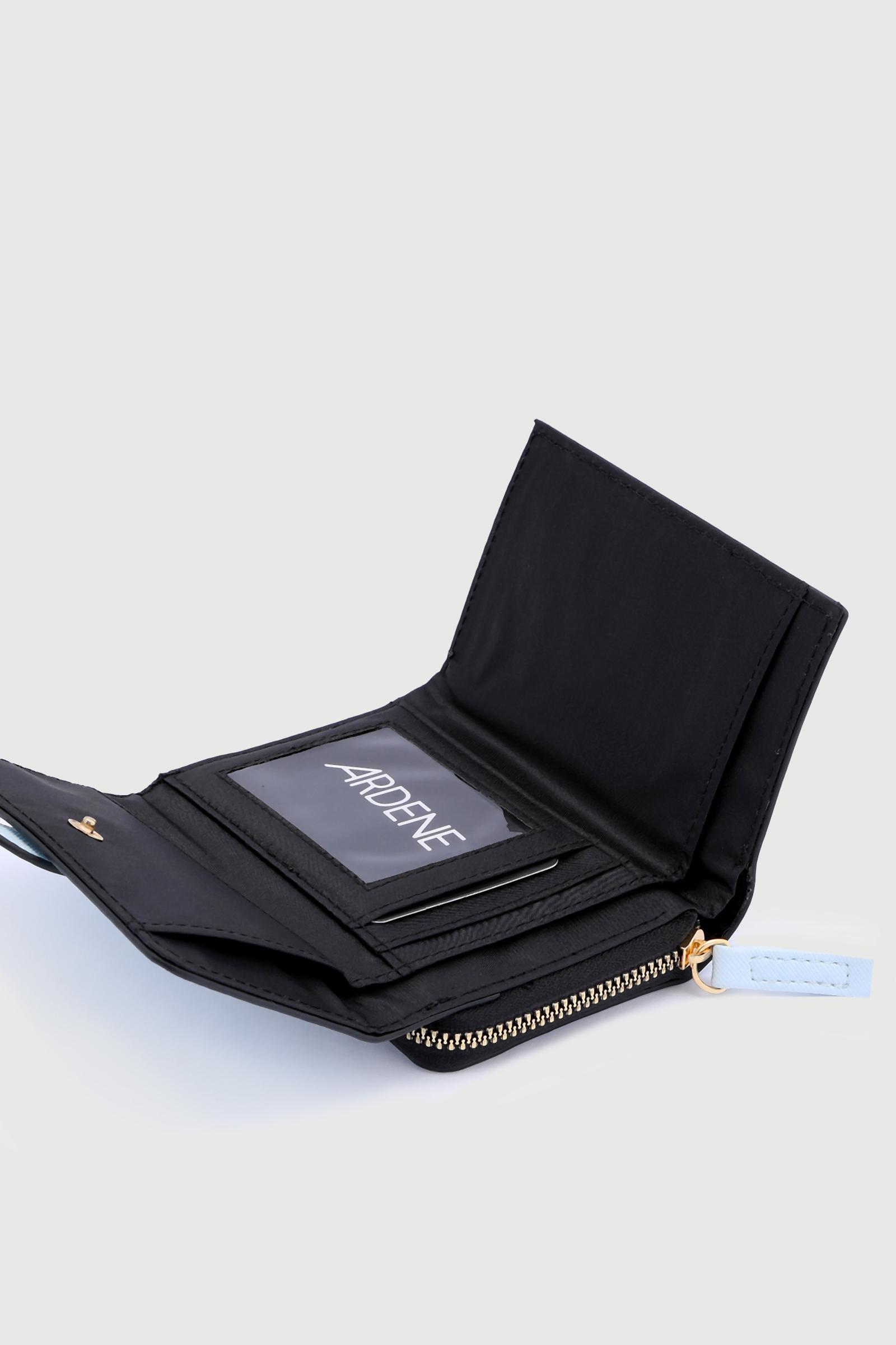 Portefeuille plié en faux cuir