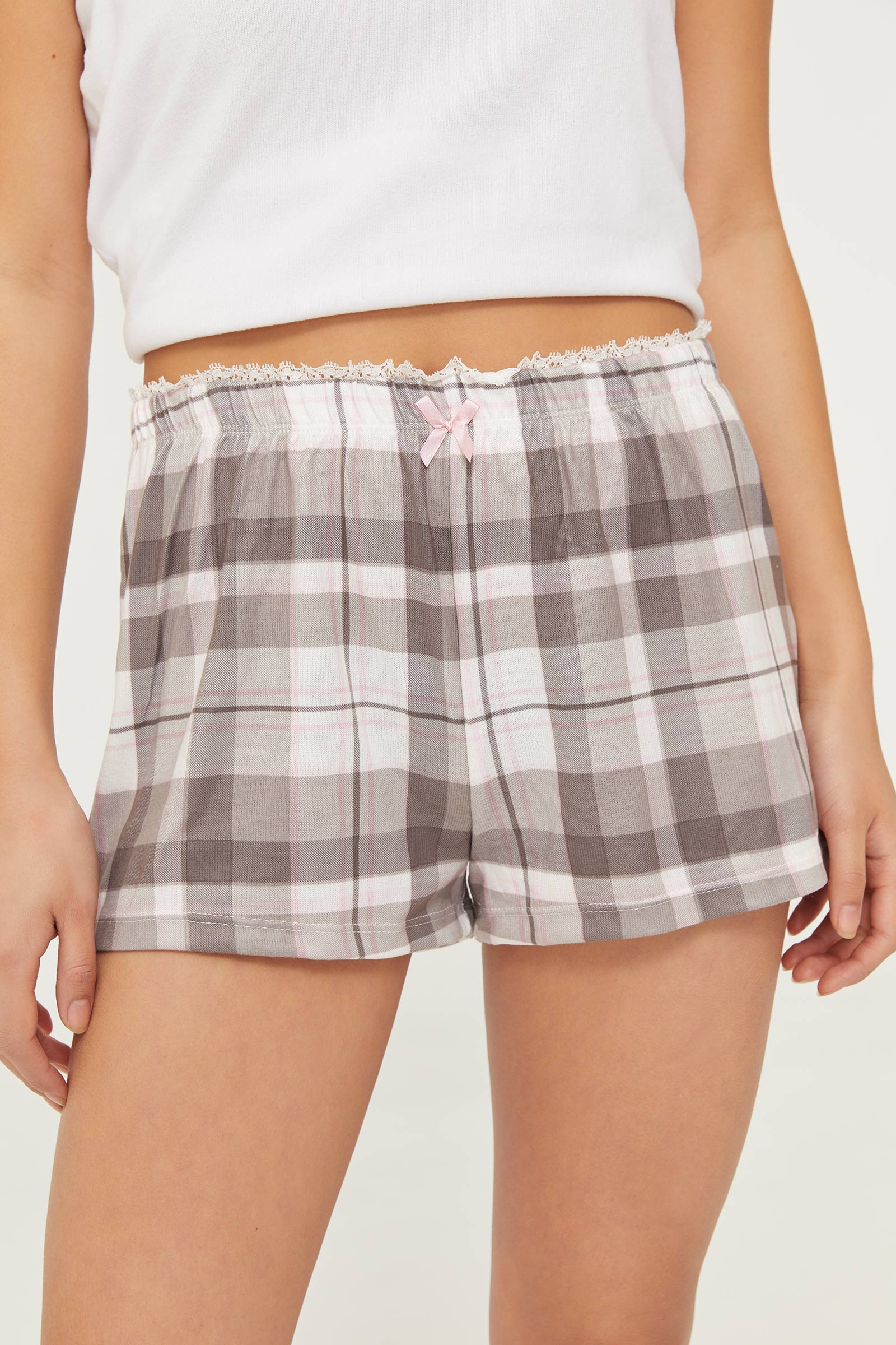 Deluxe Brushed Plaid PJ Shorts