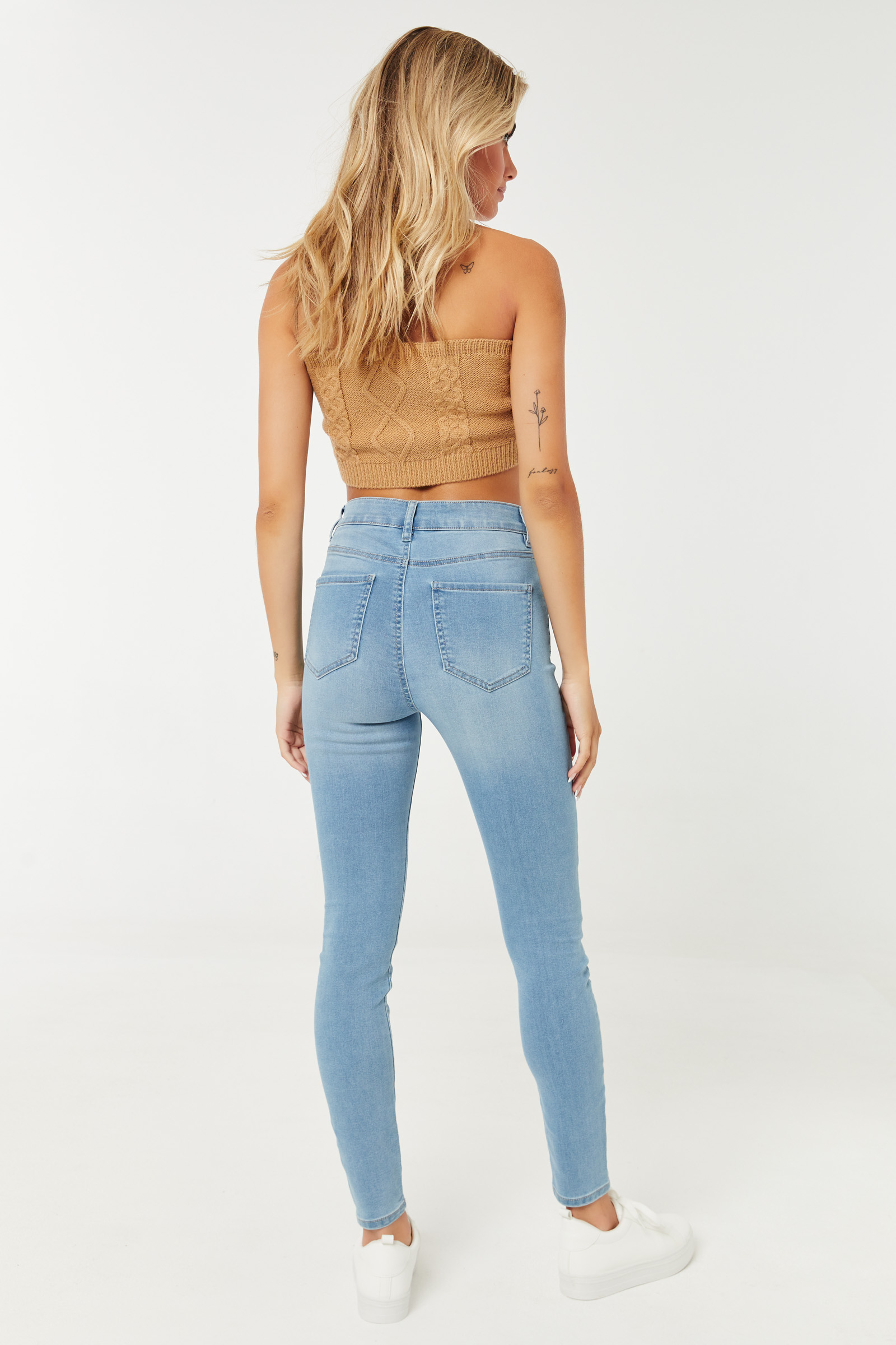 4-Button High Rise Jeggings