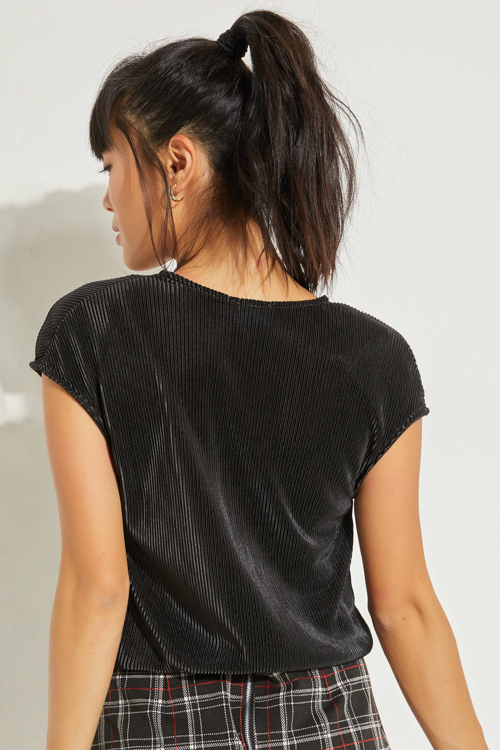 A.C.W. Pleated Satin Top
