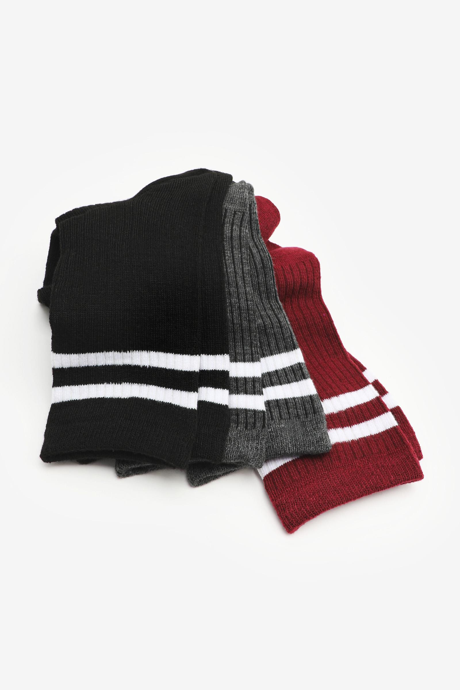 Pack of Striped Crew Socks