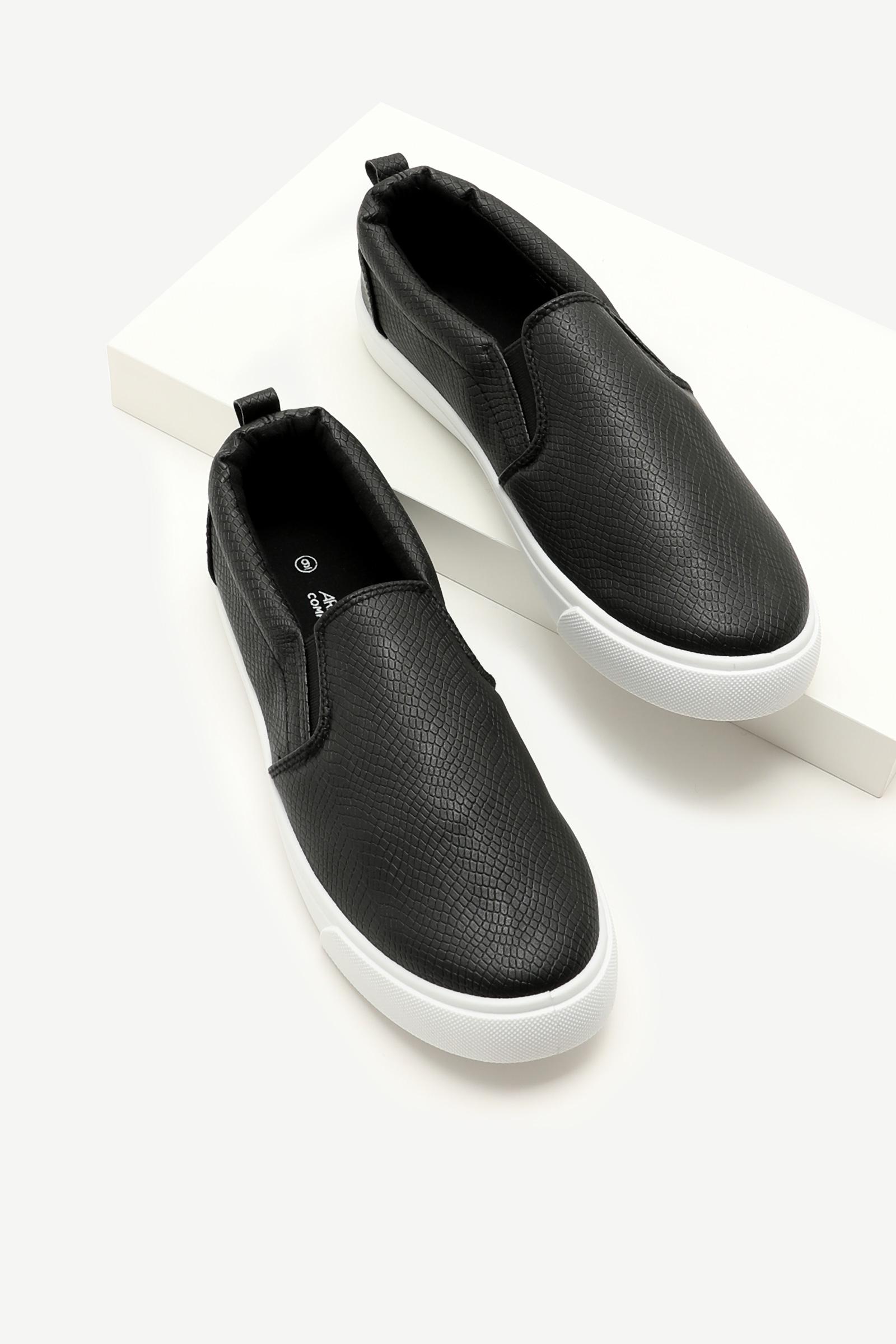 Snakeskin Slip-on Sneakers