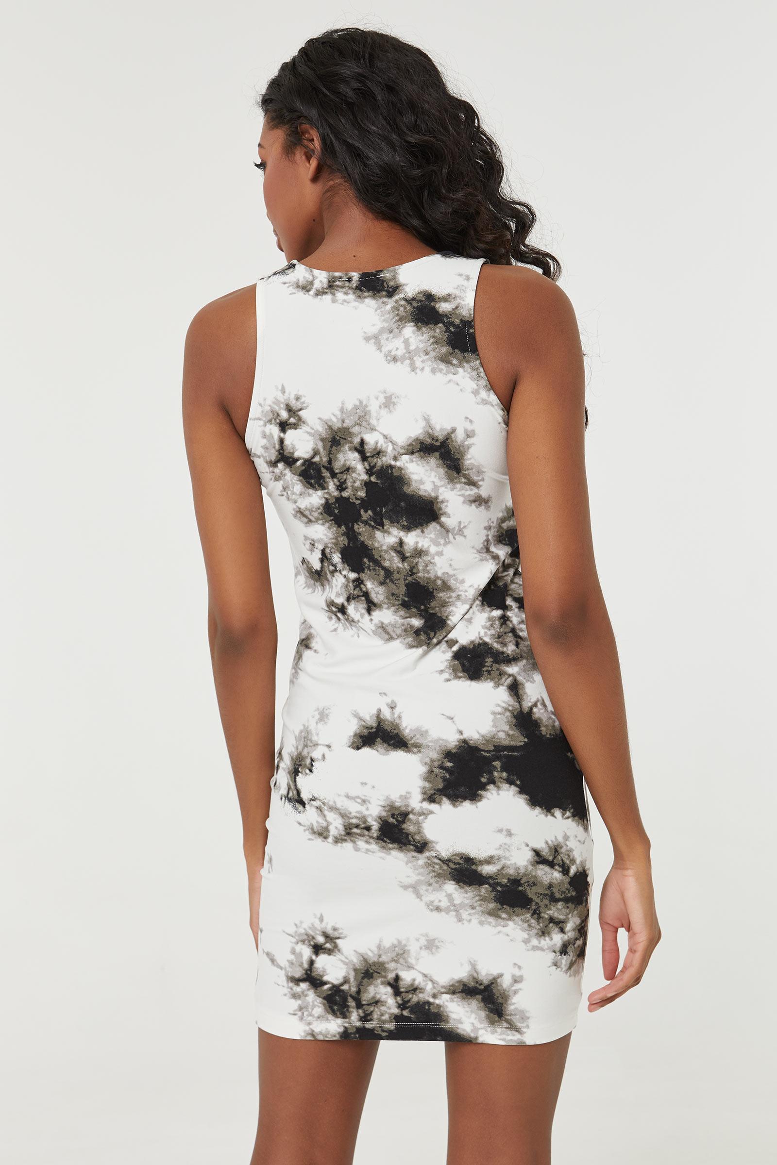 Bodycon Tie-dye Mini Dress